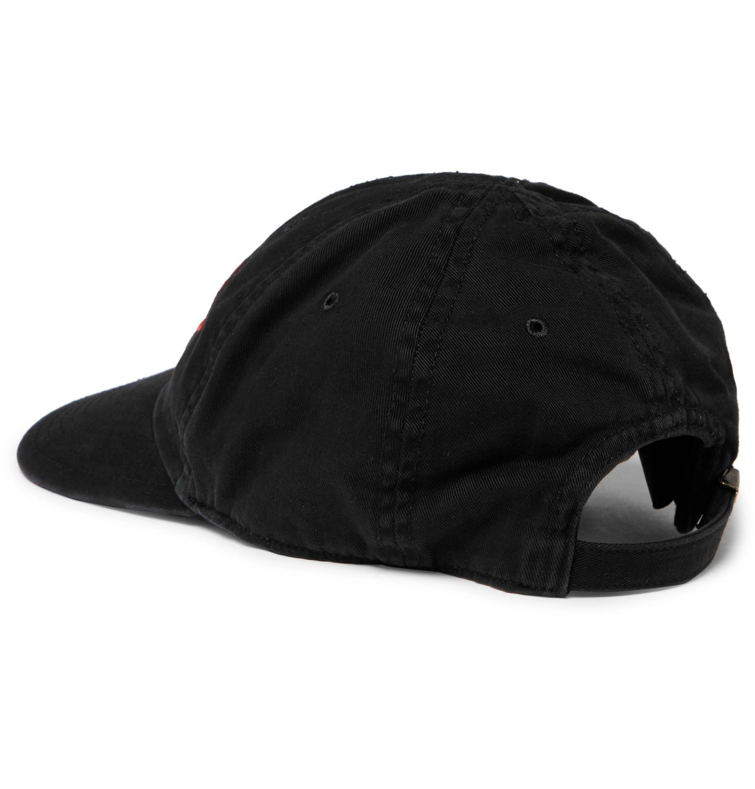 f10ef225984 Lyst - Balenciaga Sinners Embroidered Cotton-twill Baseball Cap in ...