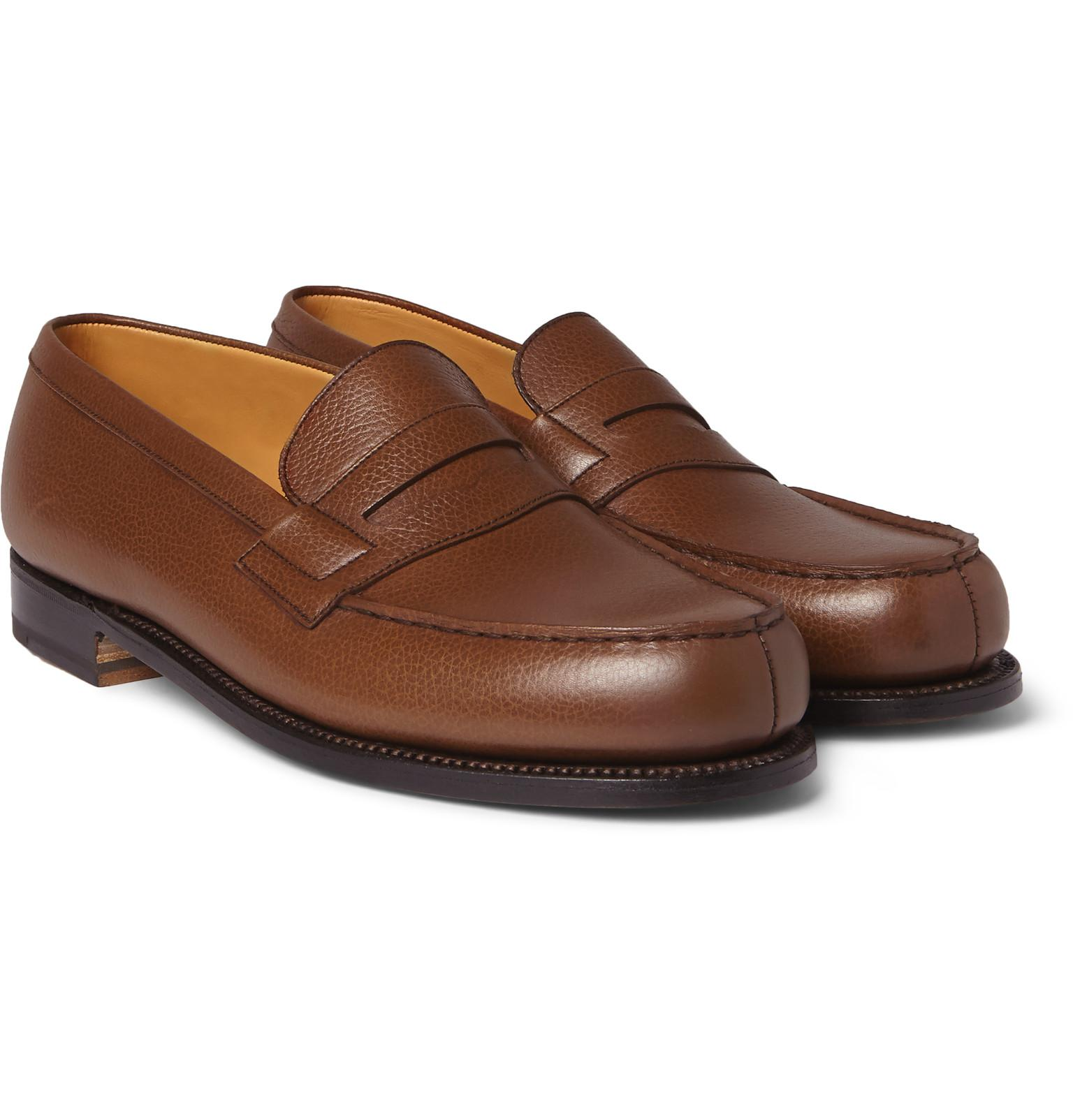 J.M. Weston 180 The Moccasin Burnished-Leather Penny Loafers cheap sale footlocker pictures 8J3OZJ