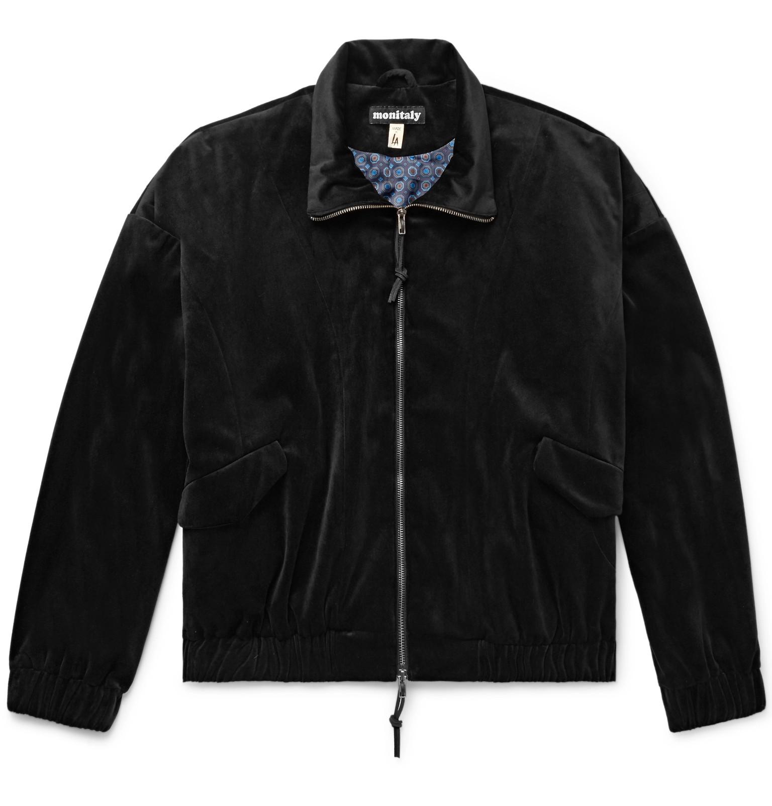 Monitaly Velvet Old Men For Jacket Lyst Black View Fullscreen Blouson Dog rBUrxn