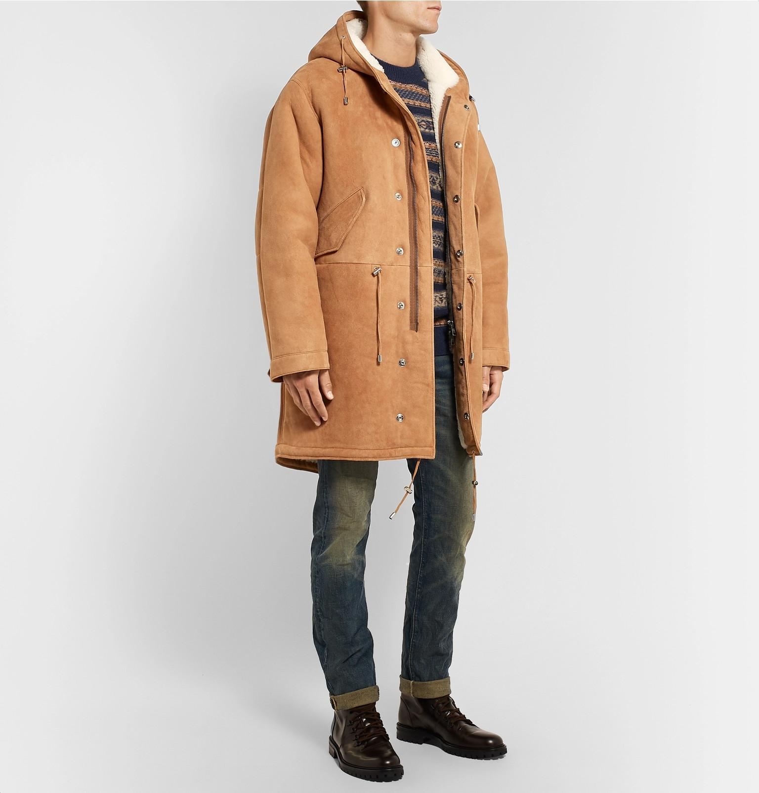 Men Multicolor Parka For Lyst Fullscreen View amp; Curwen Kent Shearling xEawHqEY