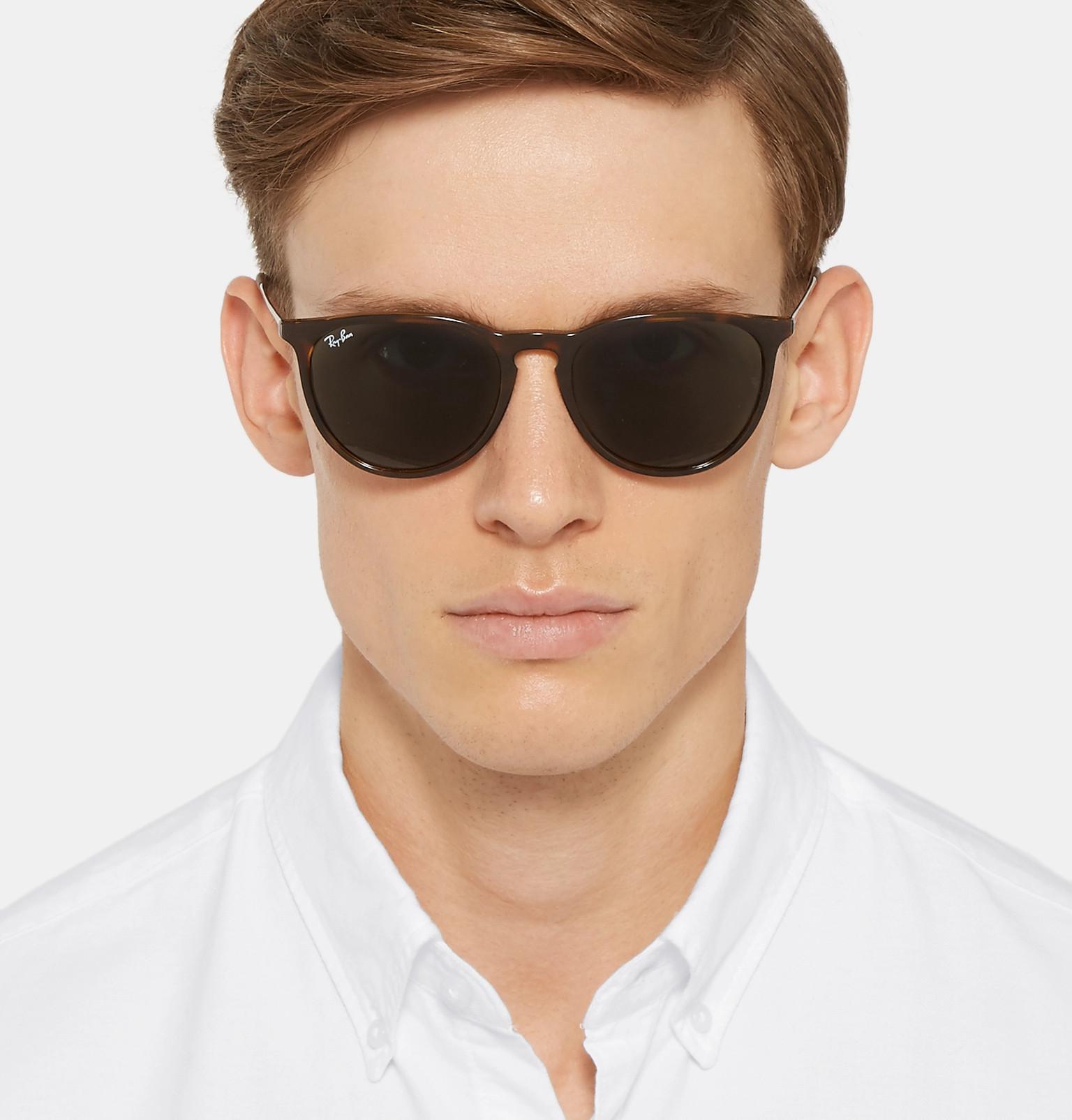 Ray-Ban Erika Round-frame Tortoiseshell Acetate Sunglasses in Brown ... 0c417abe362