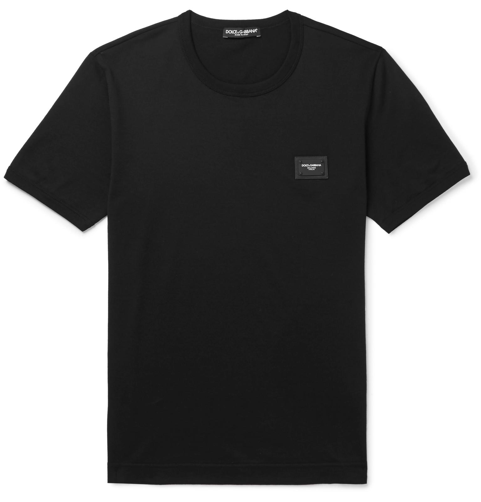 Appliquéd Mélange Cotton-jersey T-shirt Dolce & Gabbana Outlet Discount Sale Buy Cheap Fast Delivery Good Selling Online 2XcYTctTn