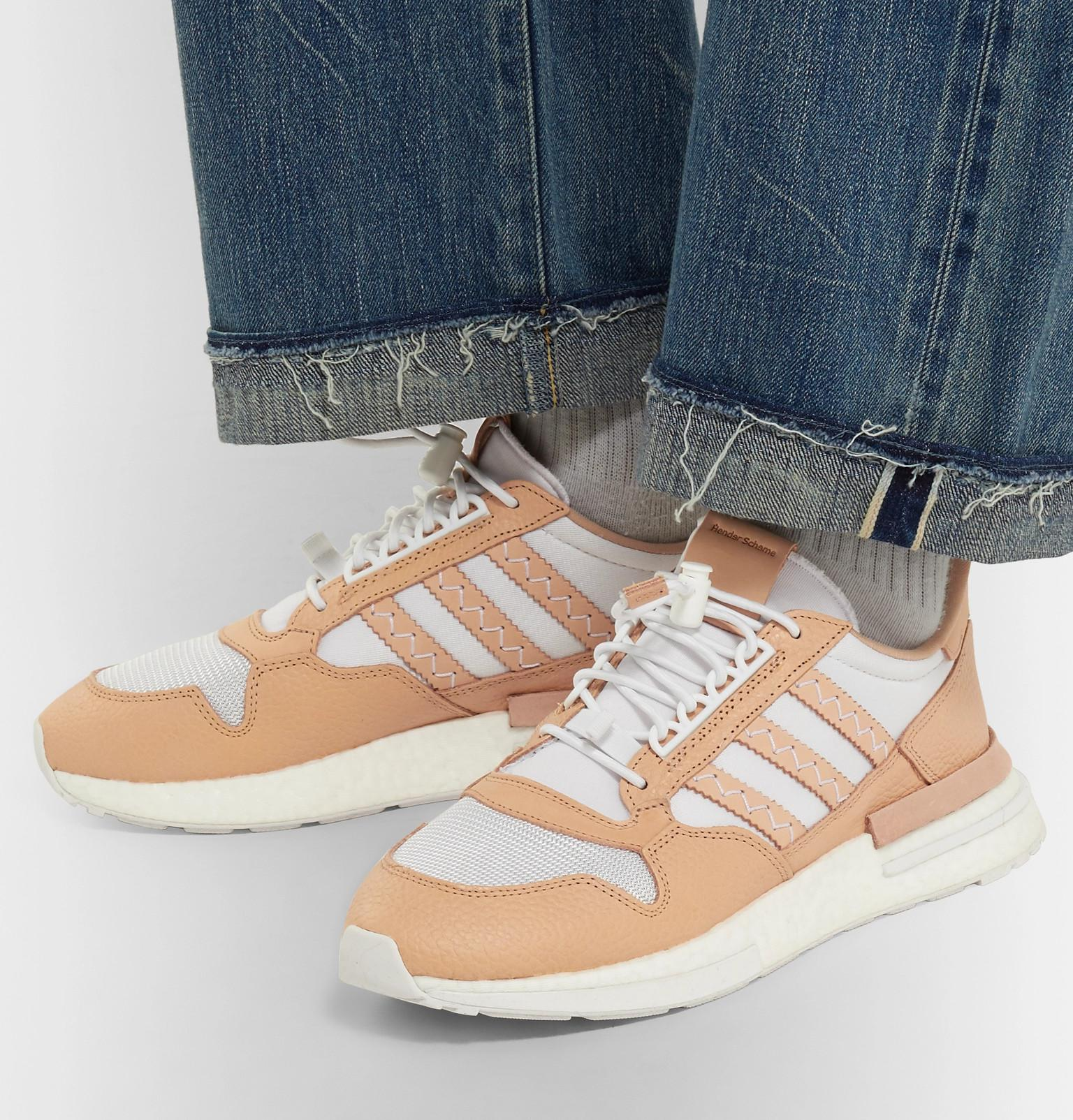 in stock b68cf 24266 adidas Originals Hender Scheme Zx 500 Rm Mt Leather And Mesh ...