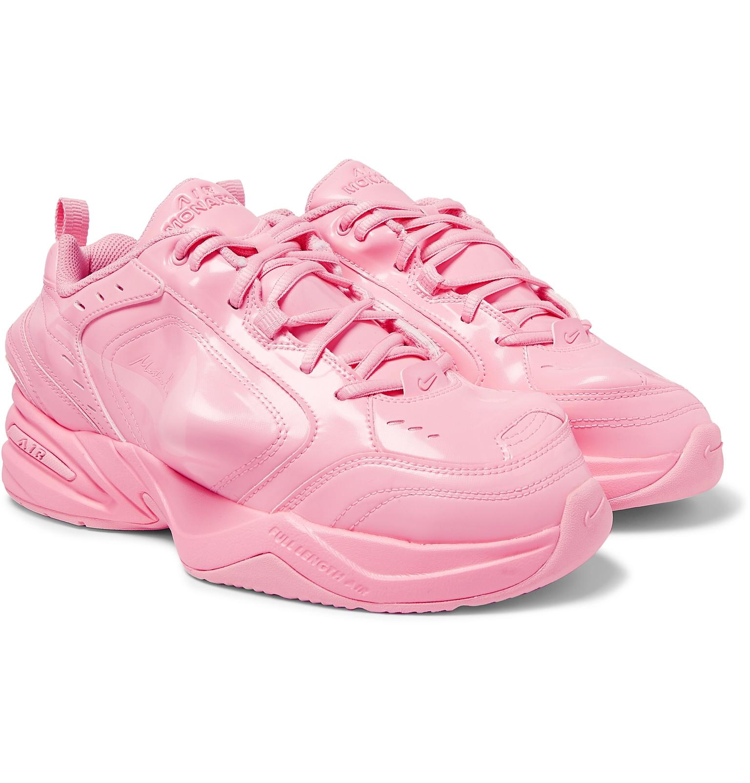 Nike. Men s Pink + Martine Rose Air Monarch Iv Faux Patent-leather And Pu  Trainers b5395bd43