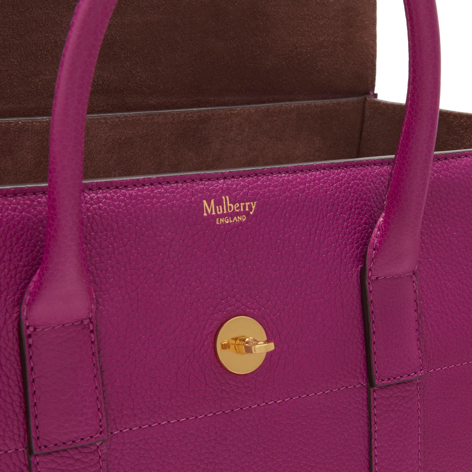 Purple bayswater mulberry bag celebrity