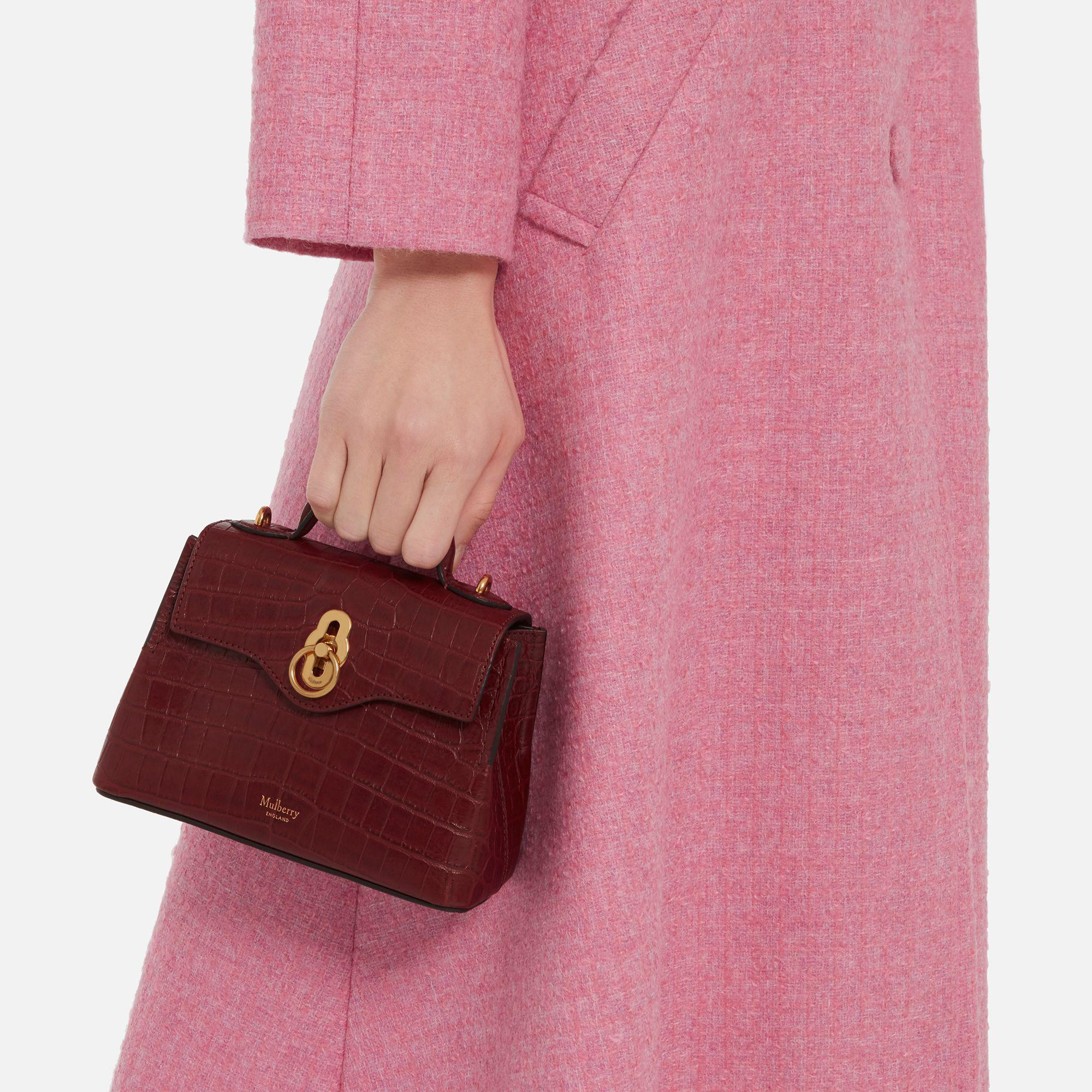 d19a6724cc71 Mulberry Micro Seaton in Red - Lyst