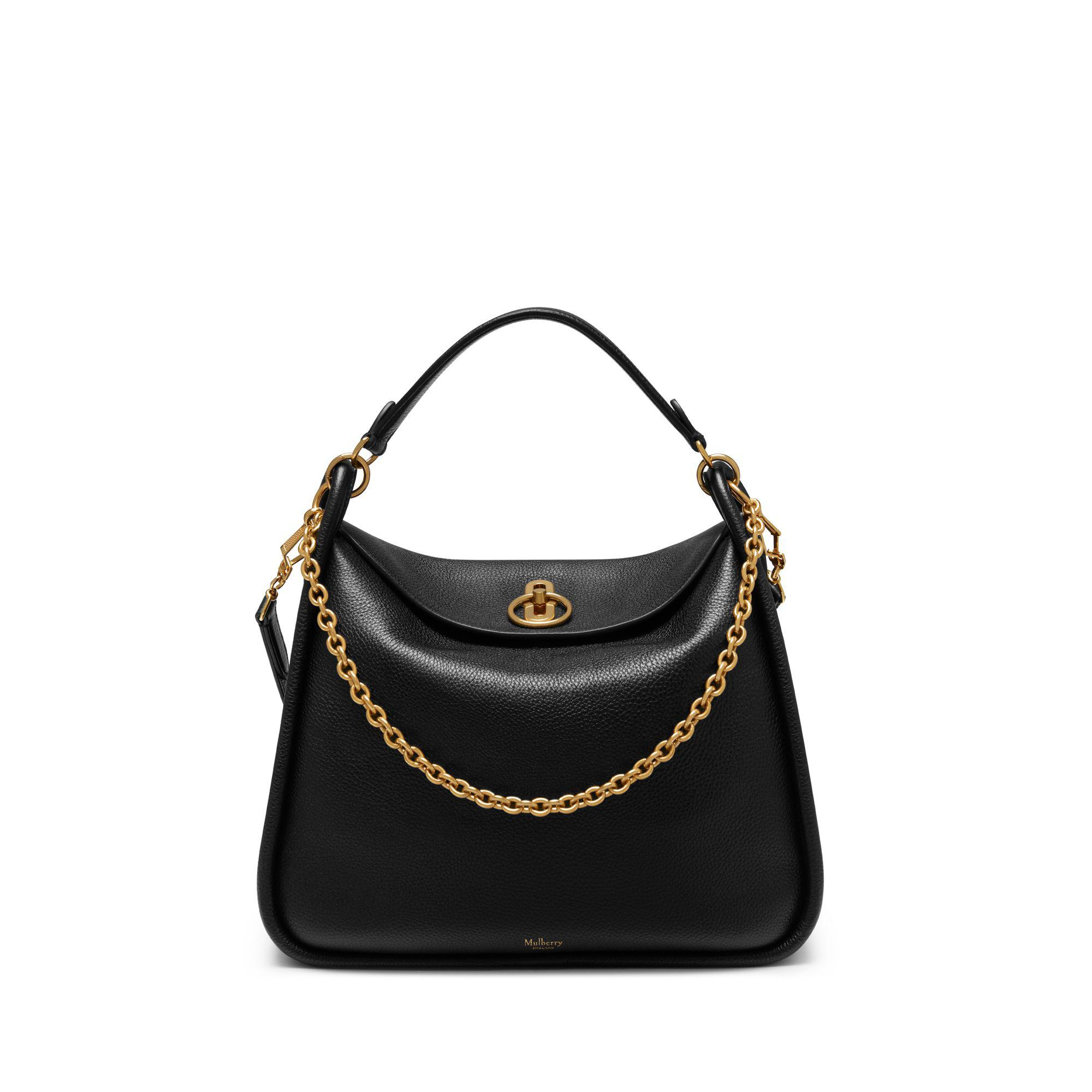 Mulberry - Leighton In Black Small Classic Grain - Lyst. View fullscreen 1f65ebb528db4