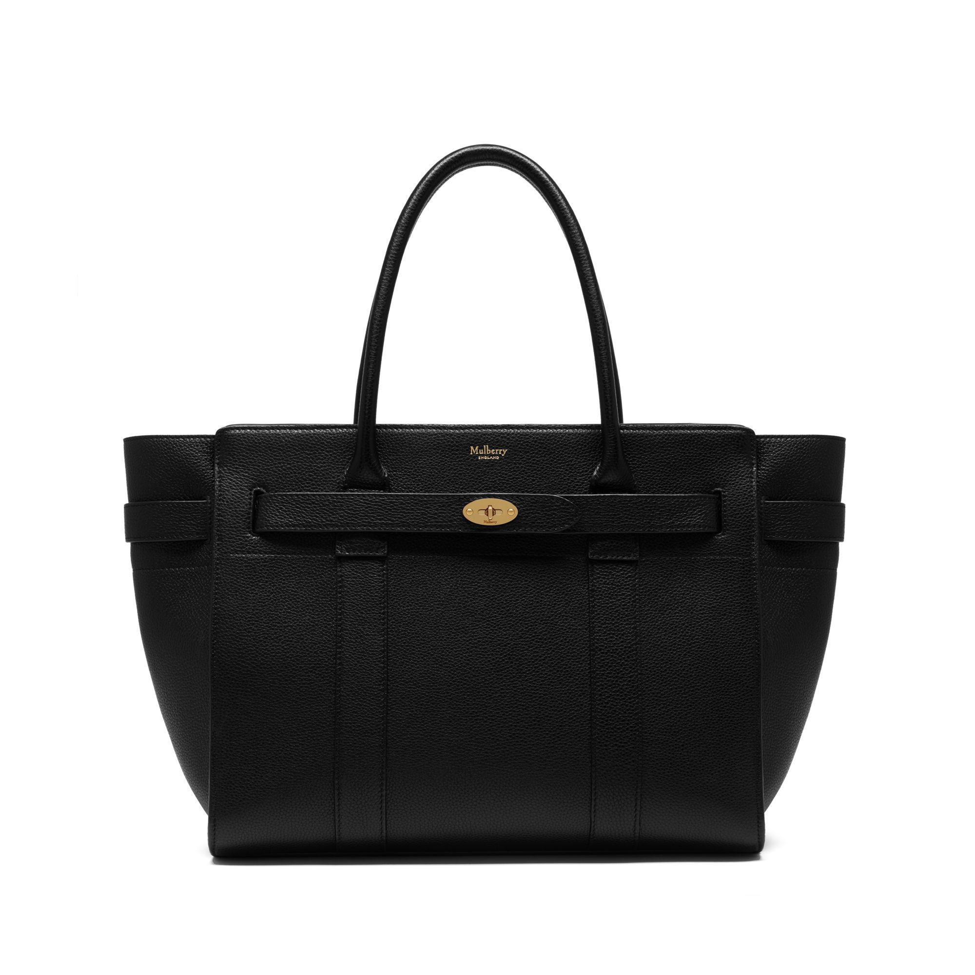 Lyst mulberry zipped bayswater in black save 5 for The bayswater