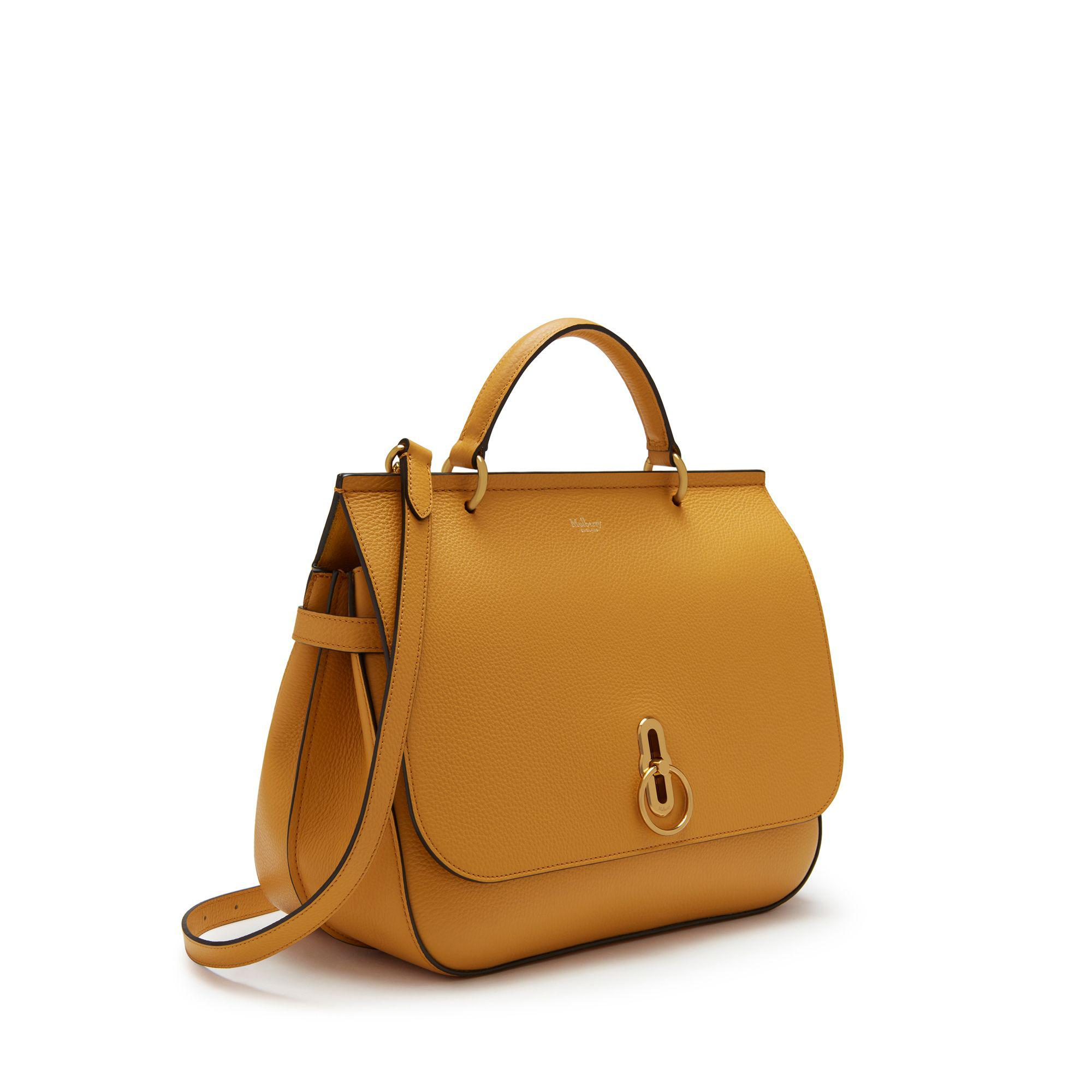 Mulberry. Women s Amberley In Maize Yellow Small Classic Grain 6c05c7d9976f1