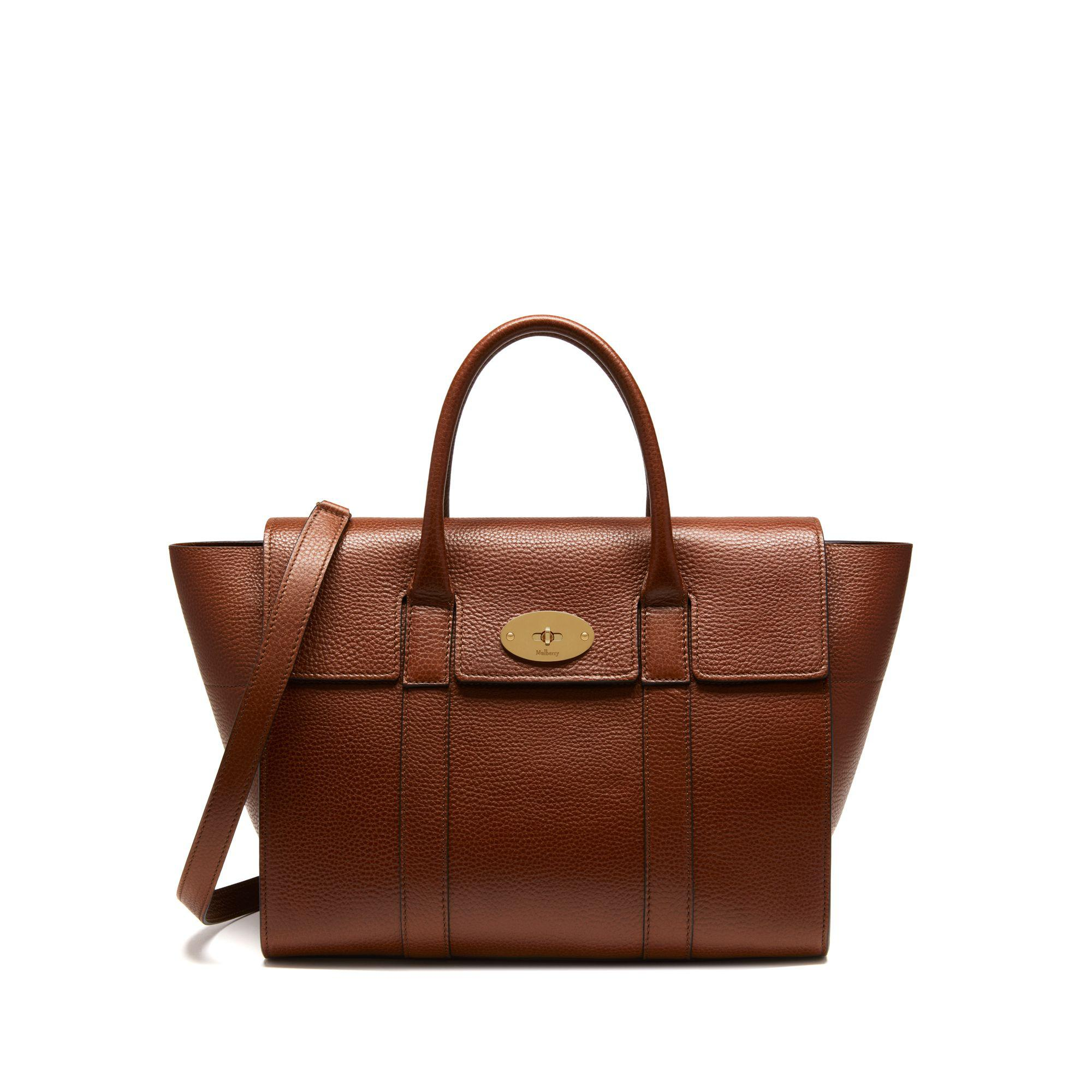 5473825beae5 Mulberry Bayswater With Strap In Oak Natural Grain Leather in Brown ...