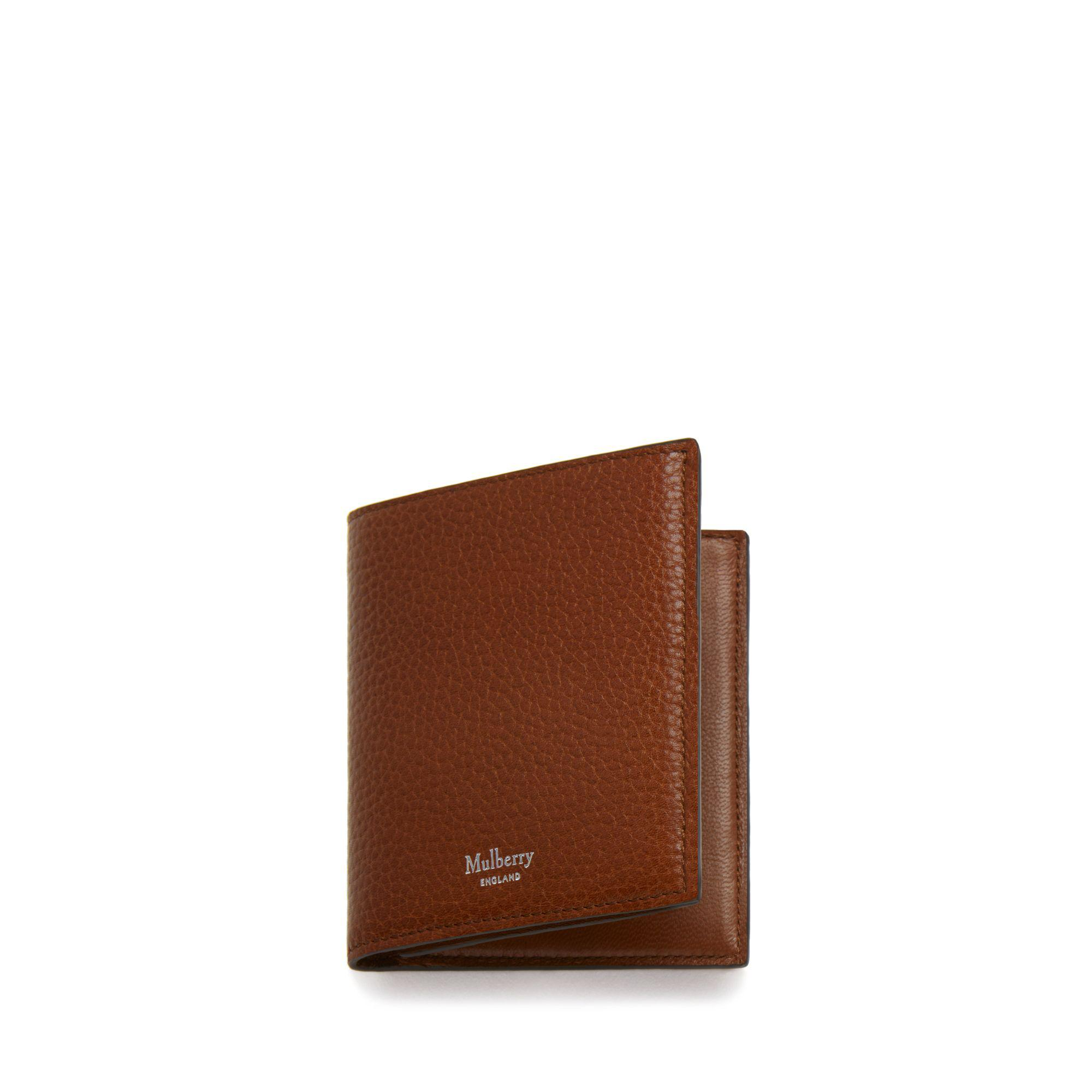 4178d5d39d734 Mulberry - Multicolor Trifold Wallet In Oak Natural Grain Leather for Men -  Lyst. View fullscreen