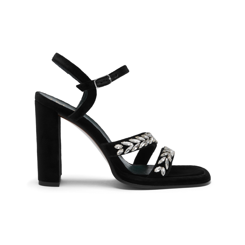 6e0f1ec09f4 Mulberry Black Dazzle Sandal With Strass