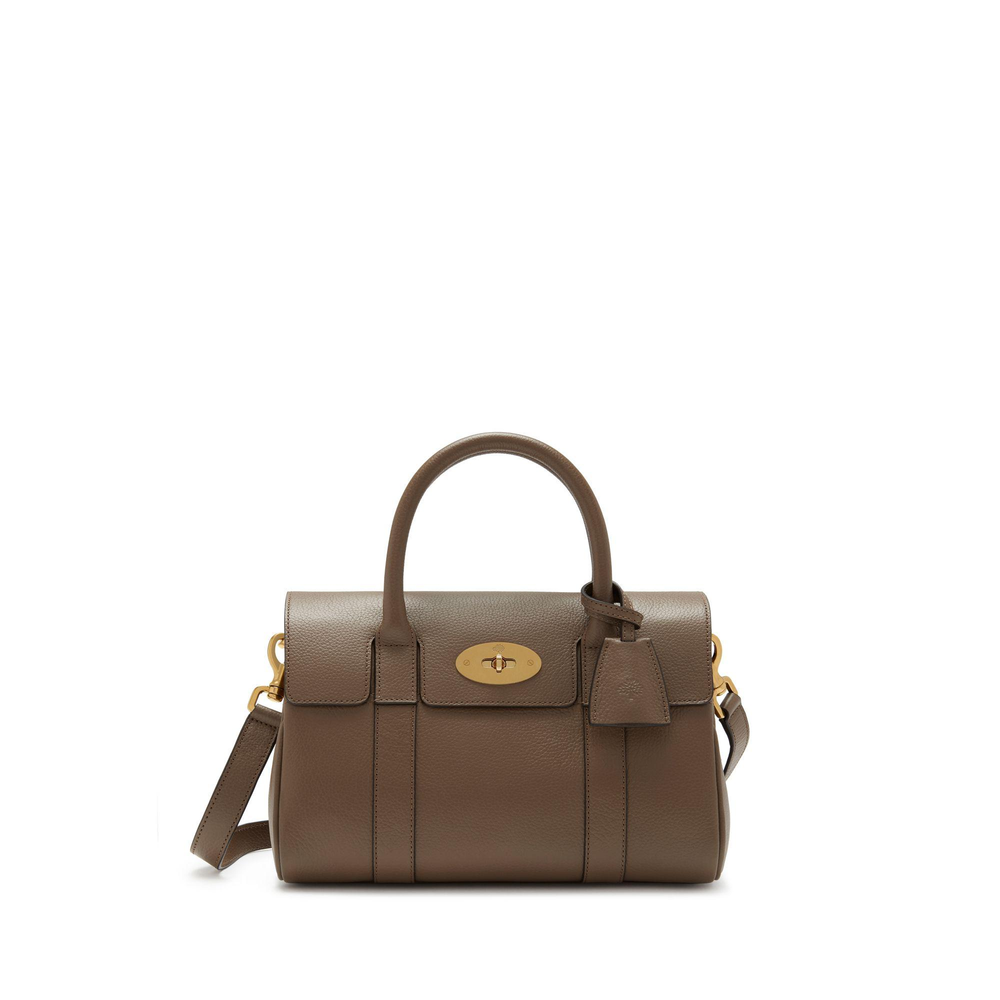 Mulberry Small Bayswater Satchel In Clay Classic Grain in Brown - Lyst f718d88658