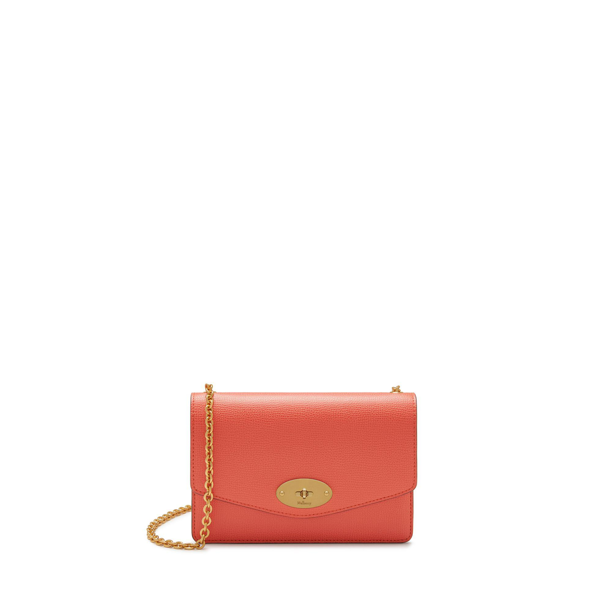 Lyst - Mulberry Small Darley In Coral Rose Cross Grain Leather in Pink 8b94171caec60
