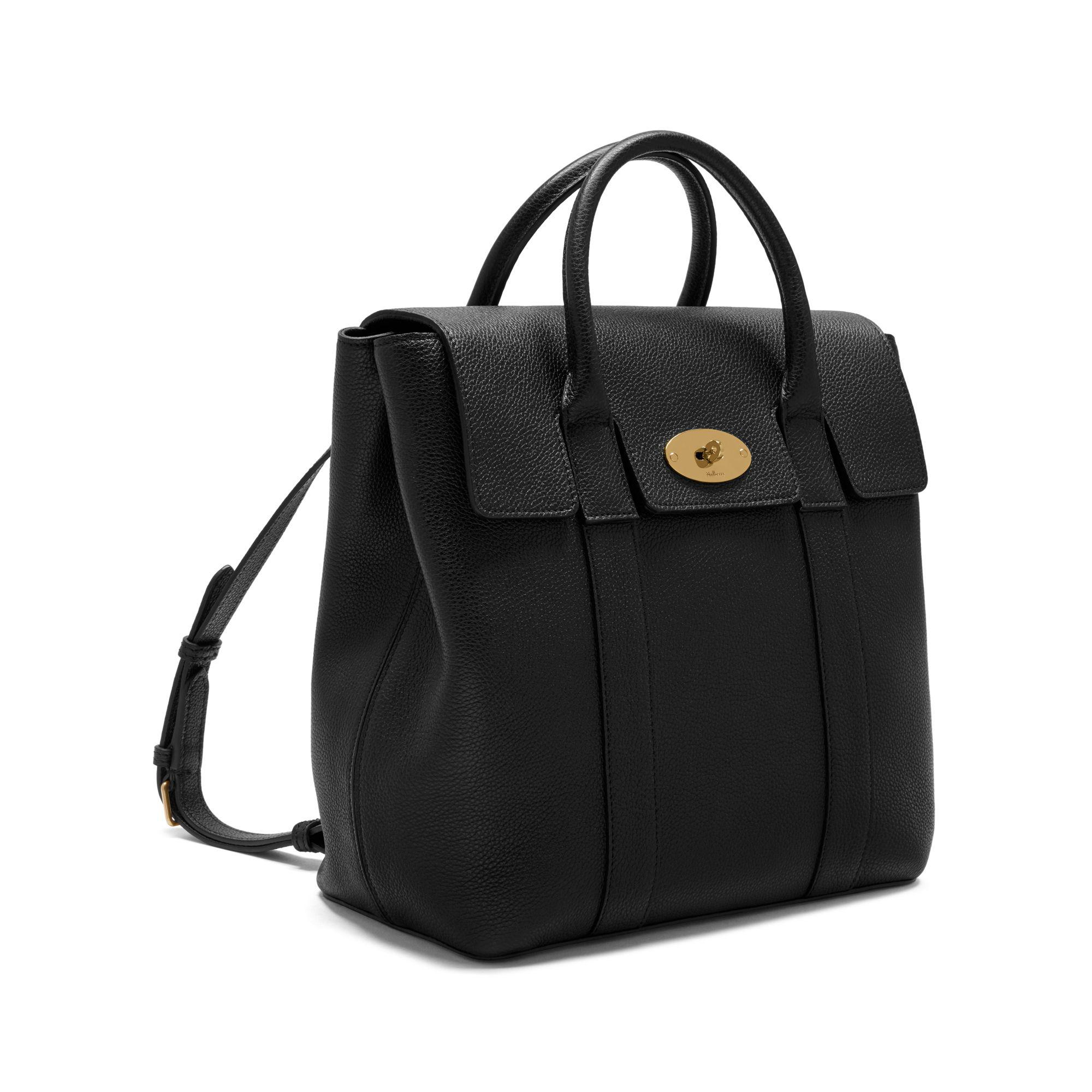reduced mulberry bayswater grained leather tote c85f3 cf7b2  ireland  mulberry bayswater backpack in black lyst e34de 70474 edb6426100259