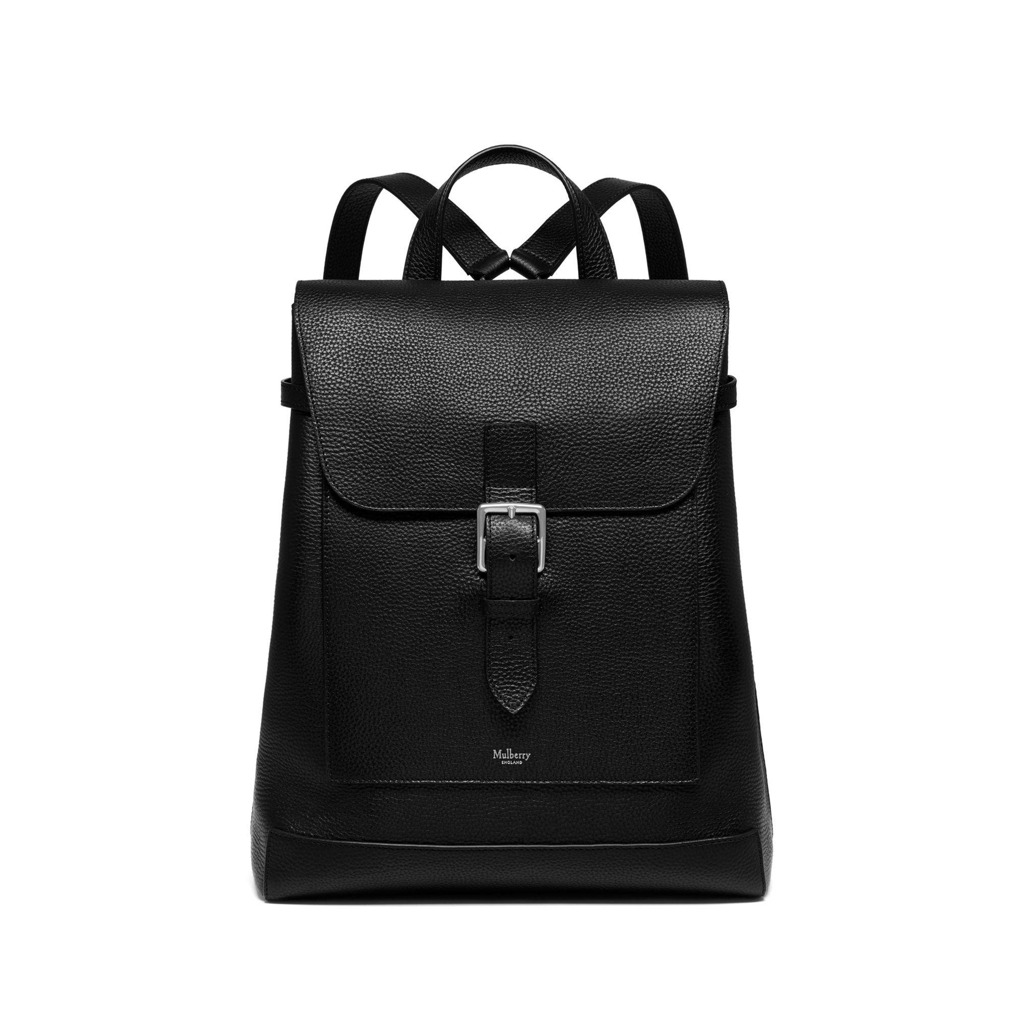 455227c3f1 Mulberry - Chiltern Backpack In Black Natural Grain Leather for Men - Lyst.  View fullscreen