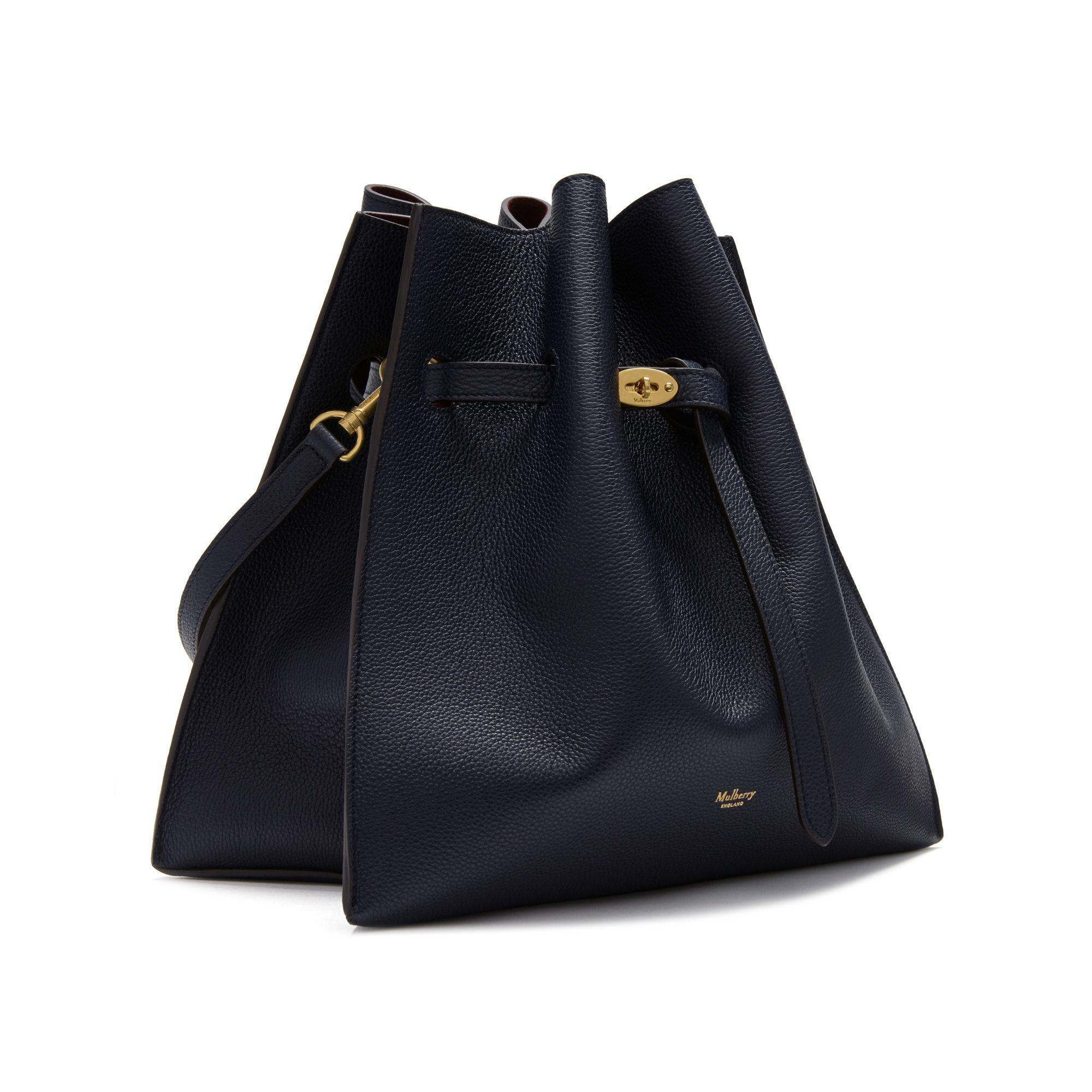 ... shop lyst mulberry tyndale small leather bucket bag in black 935b4 450c3 3c8749400e770