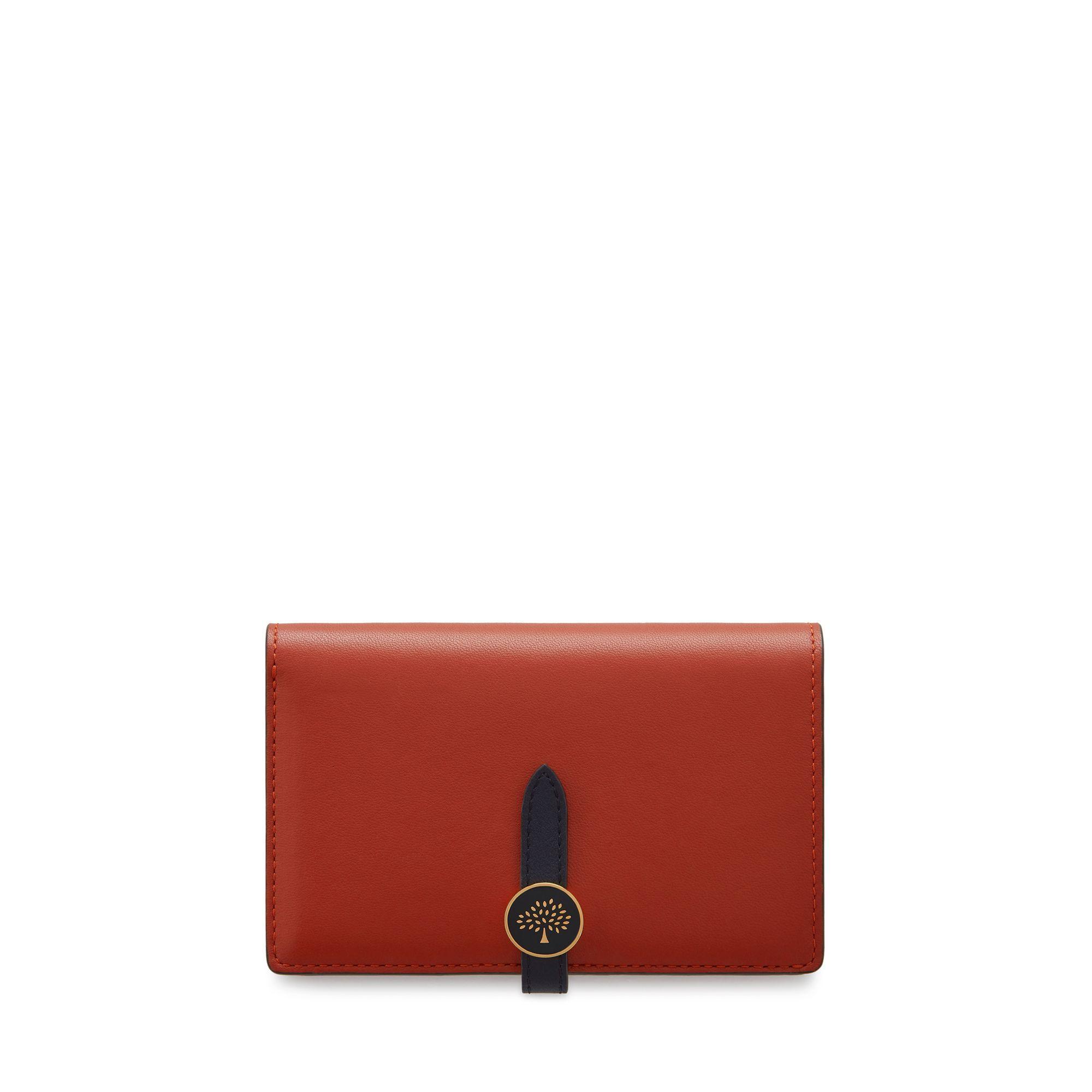 31668c293f9 Mulberry Tree Medium Wallet In Red Ochre Silky Calf in Red - Lyst