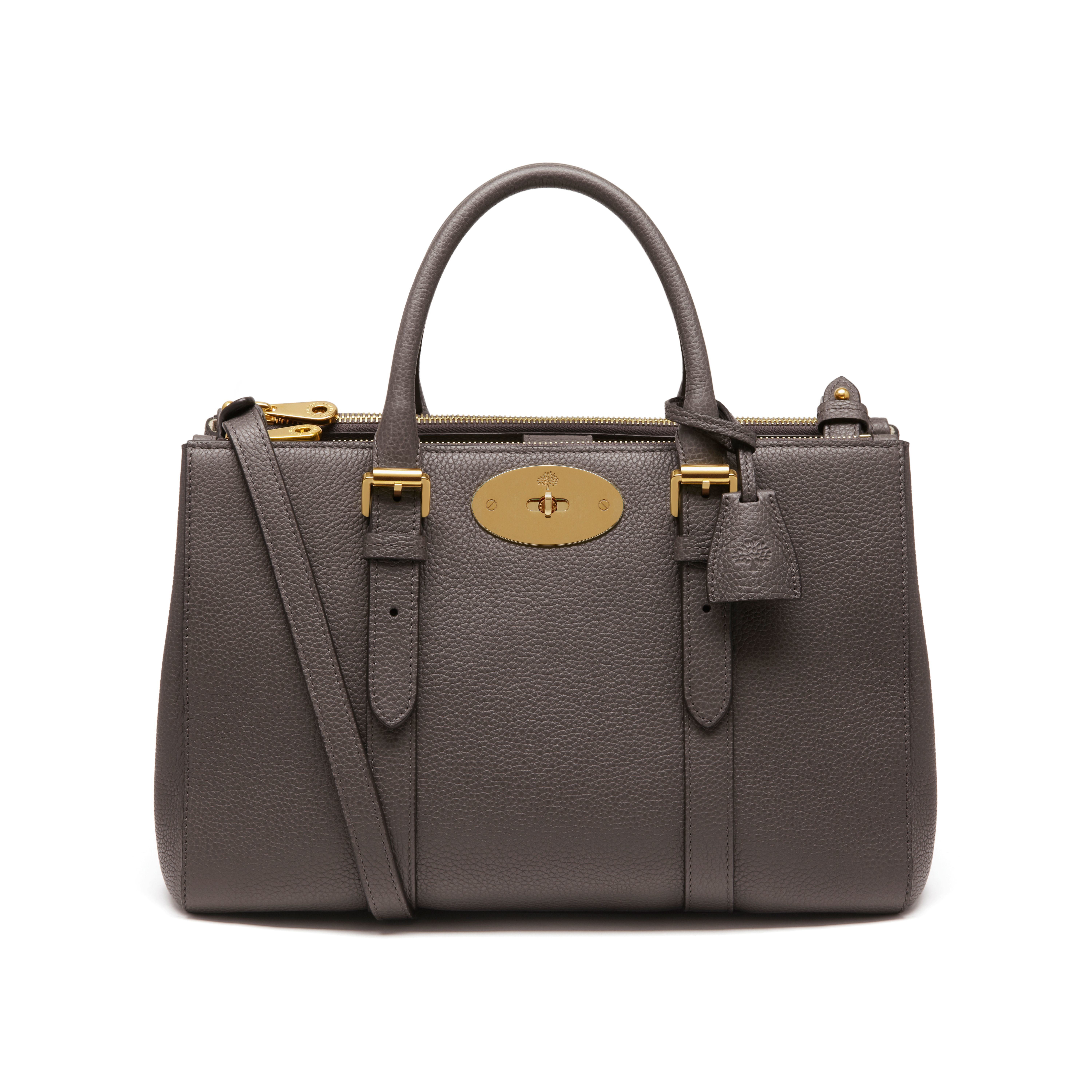 263d38812d Lyst - Mulberry Small Bayswater Leather Tote in Gray