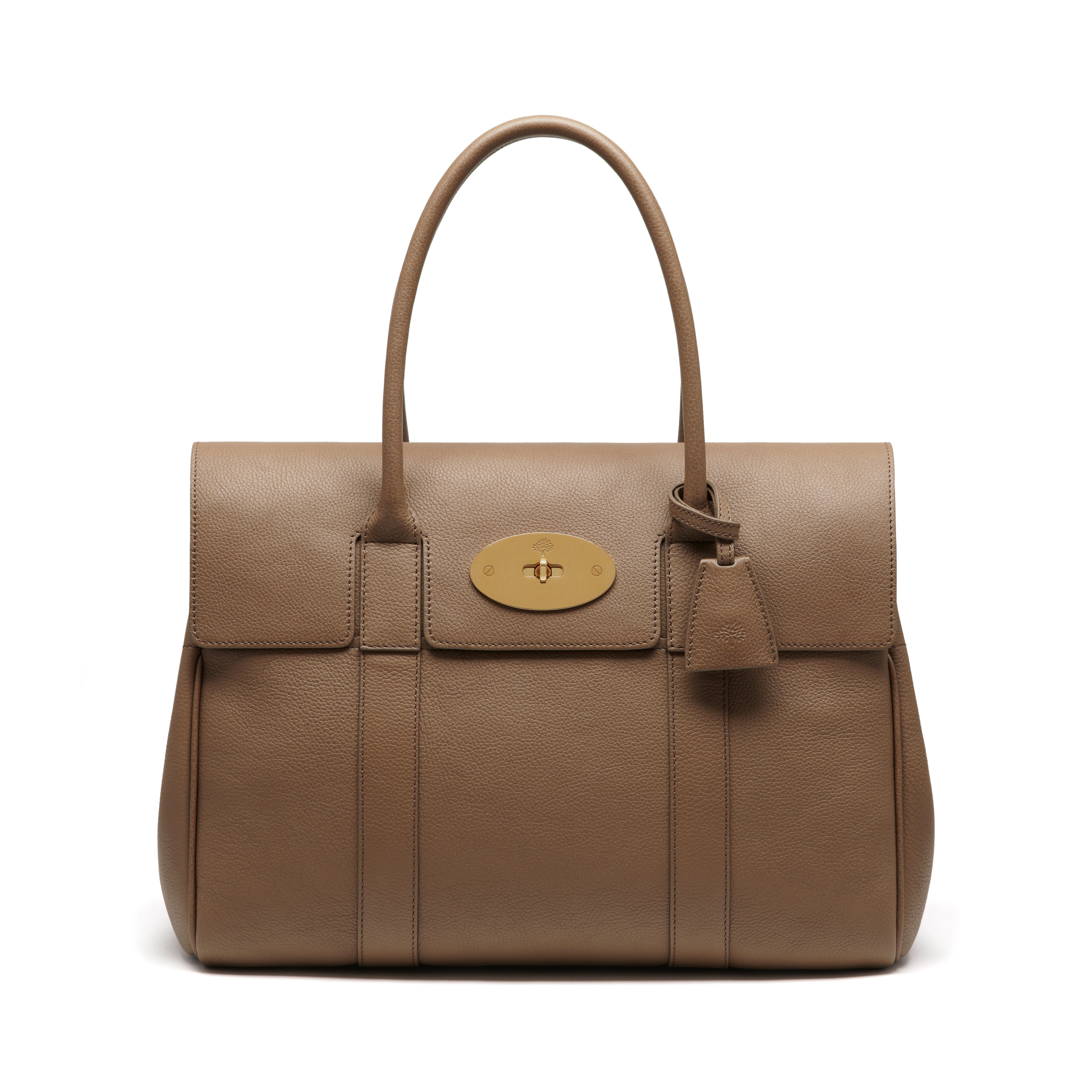 342e2f9e4d Mulberry Bayswater Leather Bag in Natural - Lyst