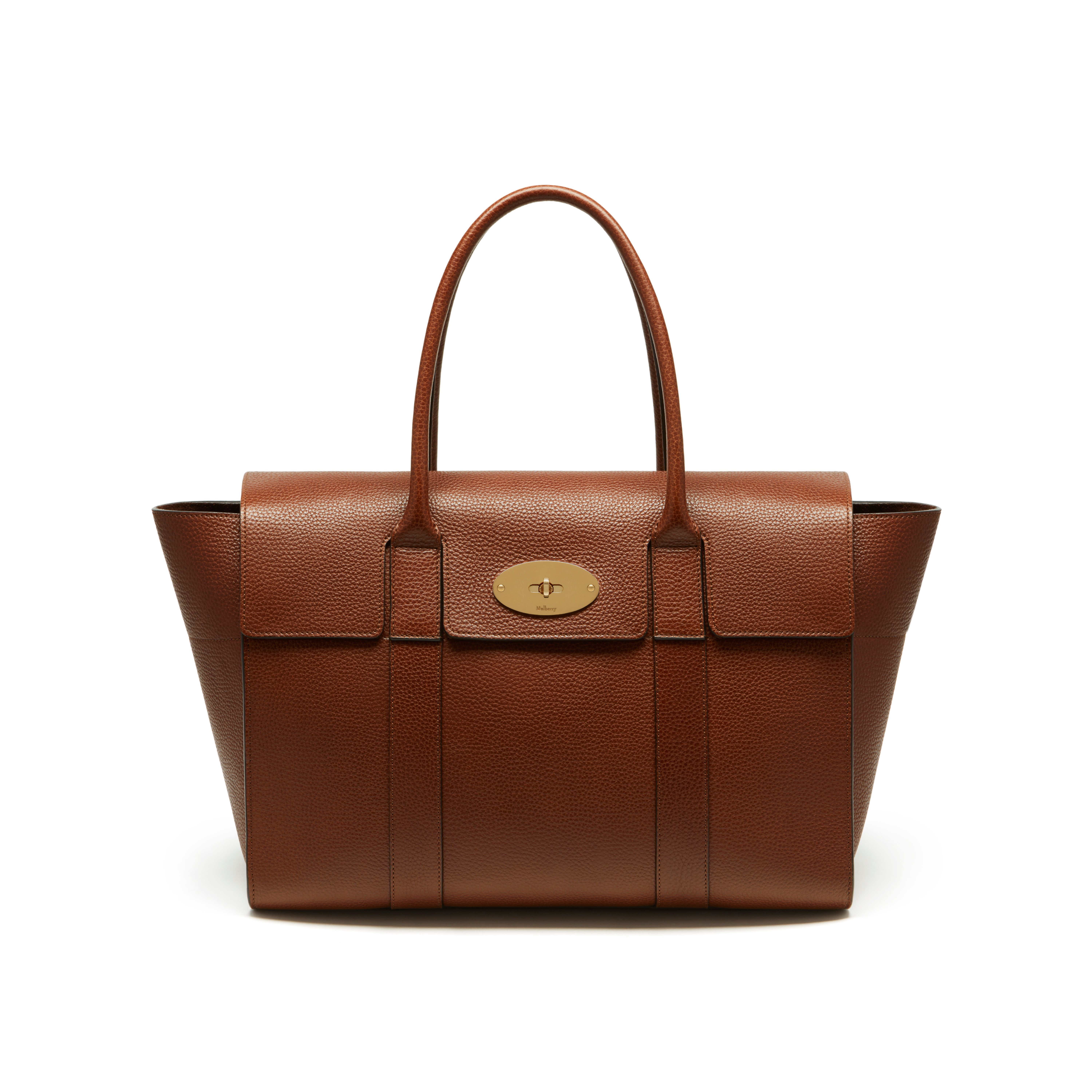 Mulberry new bayswater leather bag in brown oak lyst for The bayswater
