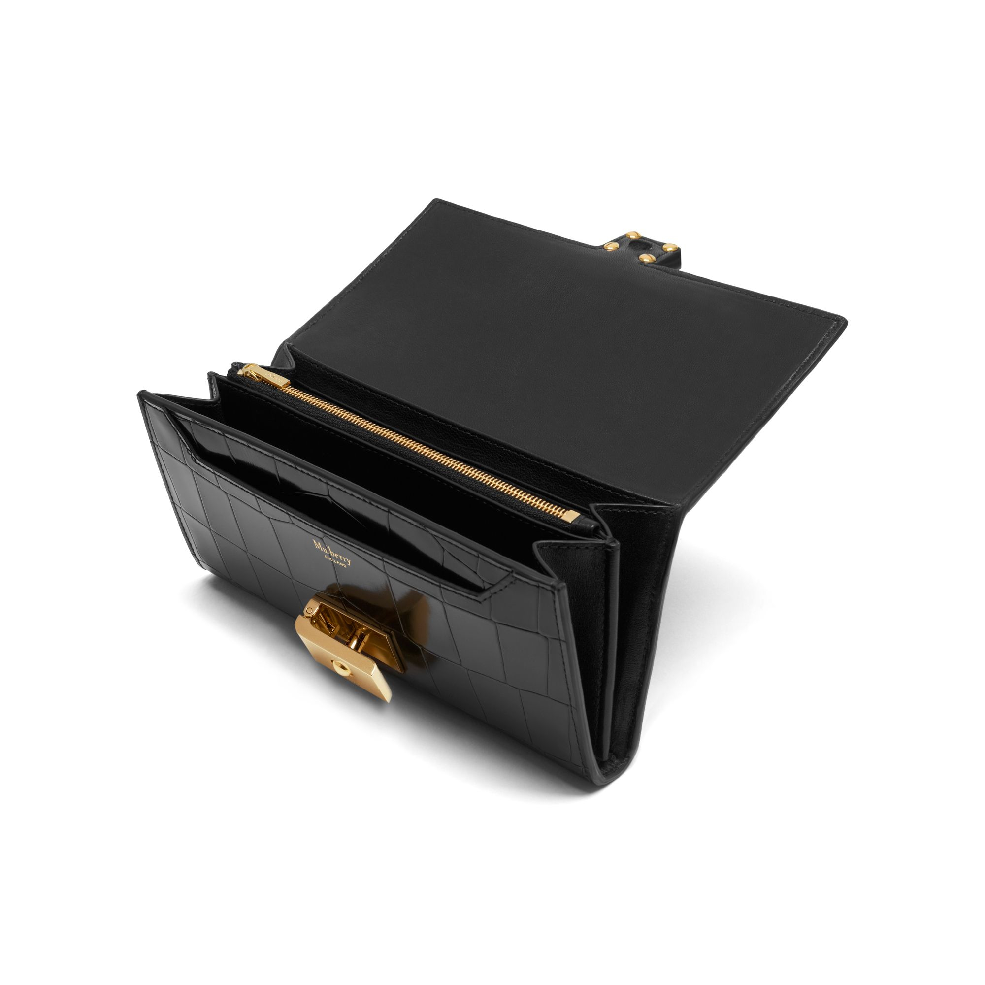 Lyst Mulberry Cheyne Wallet In Black