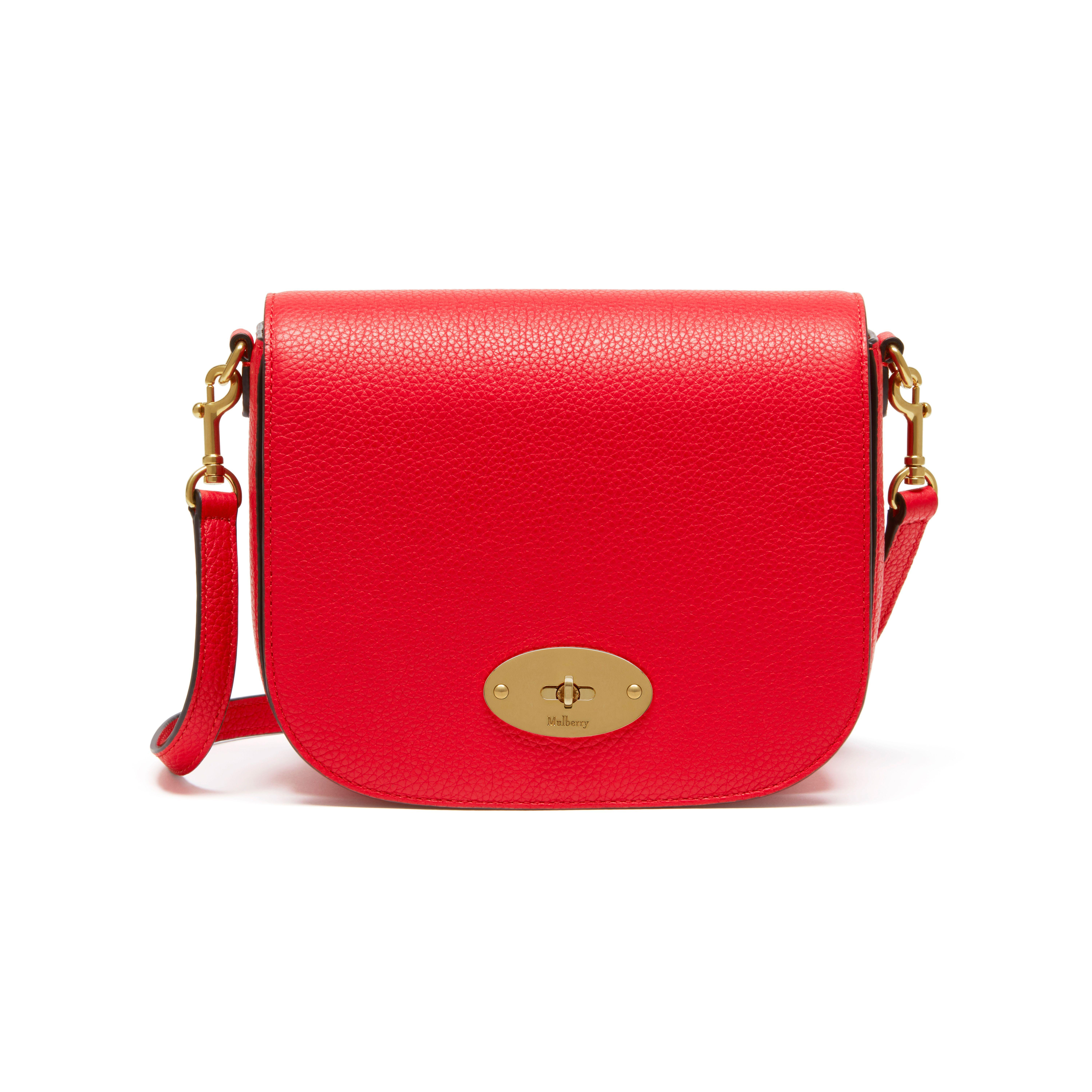 0ad2ebdb89 Mulberry Small Darley Satchel in Red - Lyst