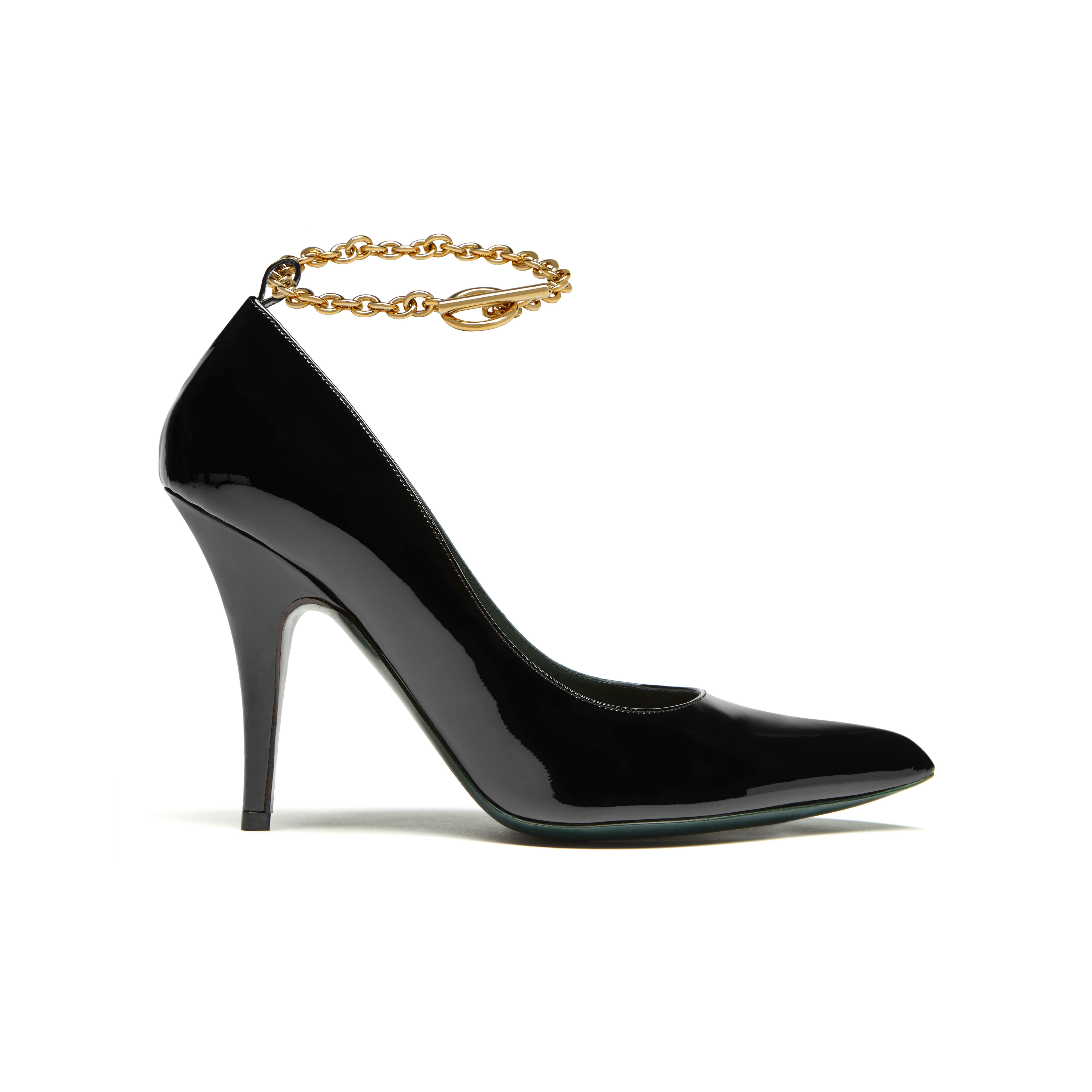 Mulberry Pointy Chain Pump in Black