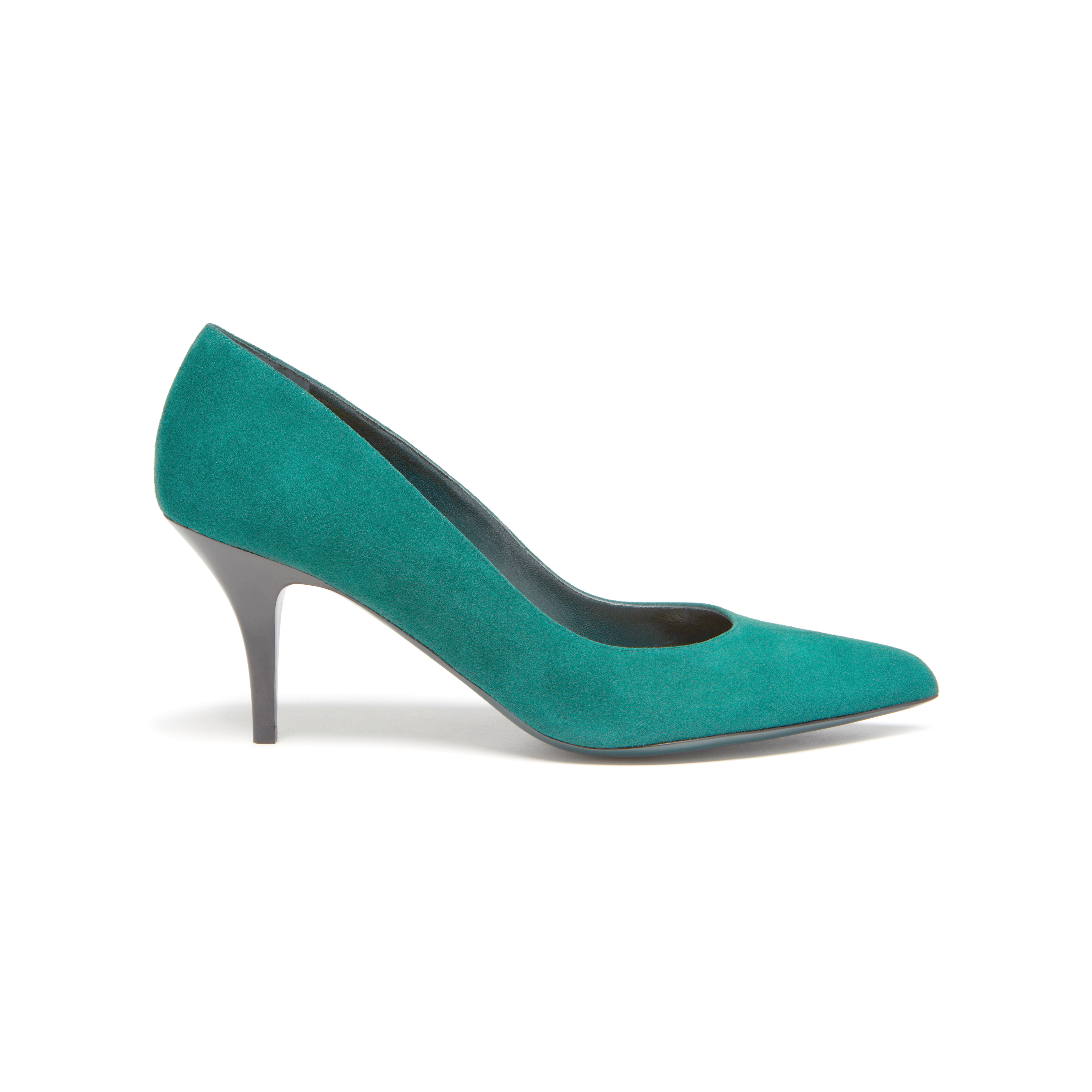 Mulberry Pointy Pump in Teal (green)