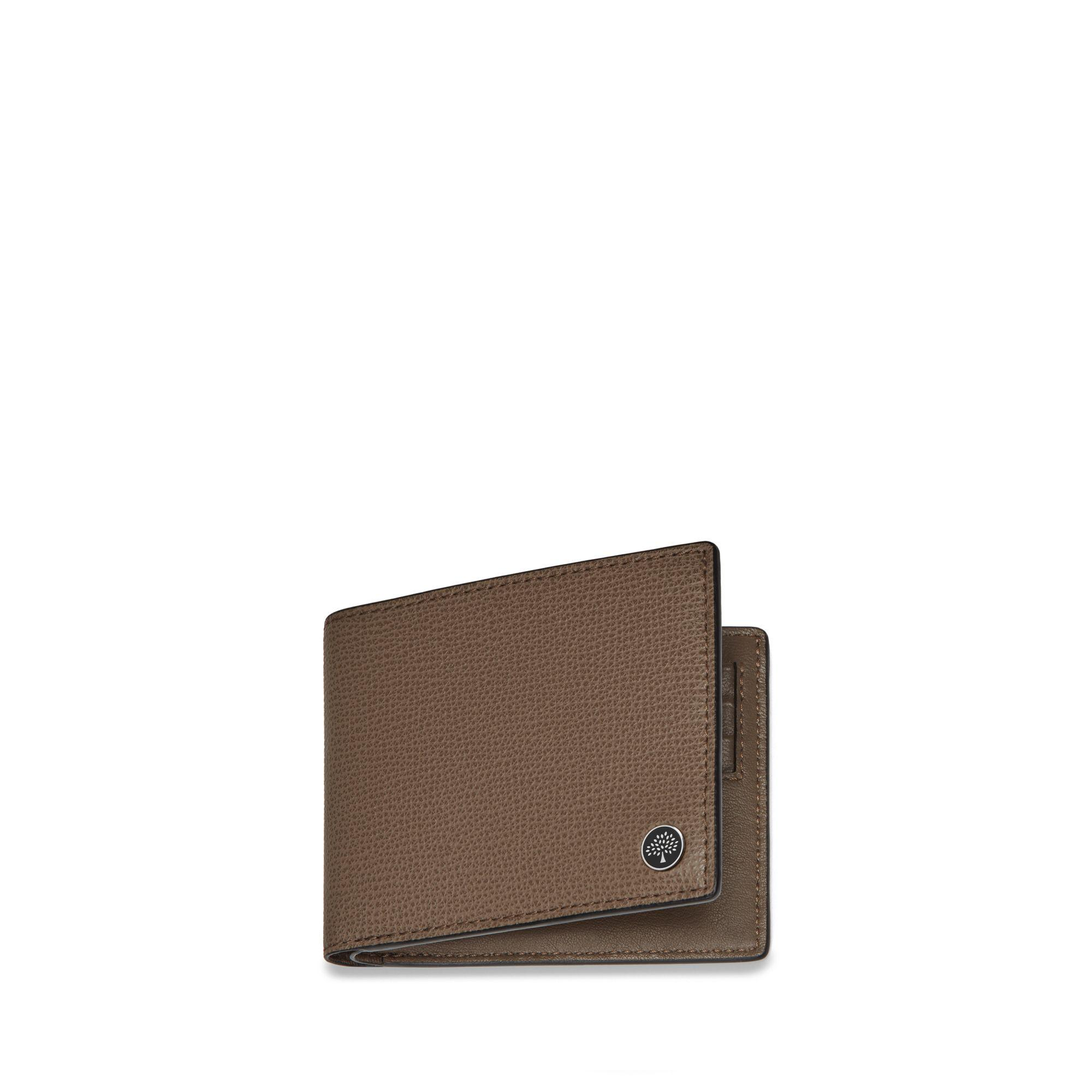 f5300bb05bc Mulberry 8 Card Wallet With Tree Plaque In Clay Cross Grain Leather ...