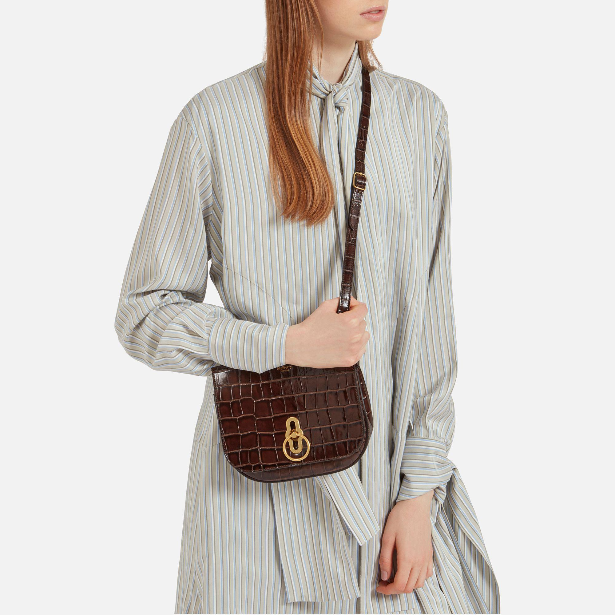ede4912bbb4c Mulberry Small Amberley Satchel in Brown - Lyst