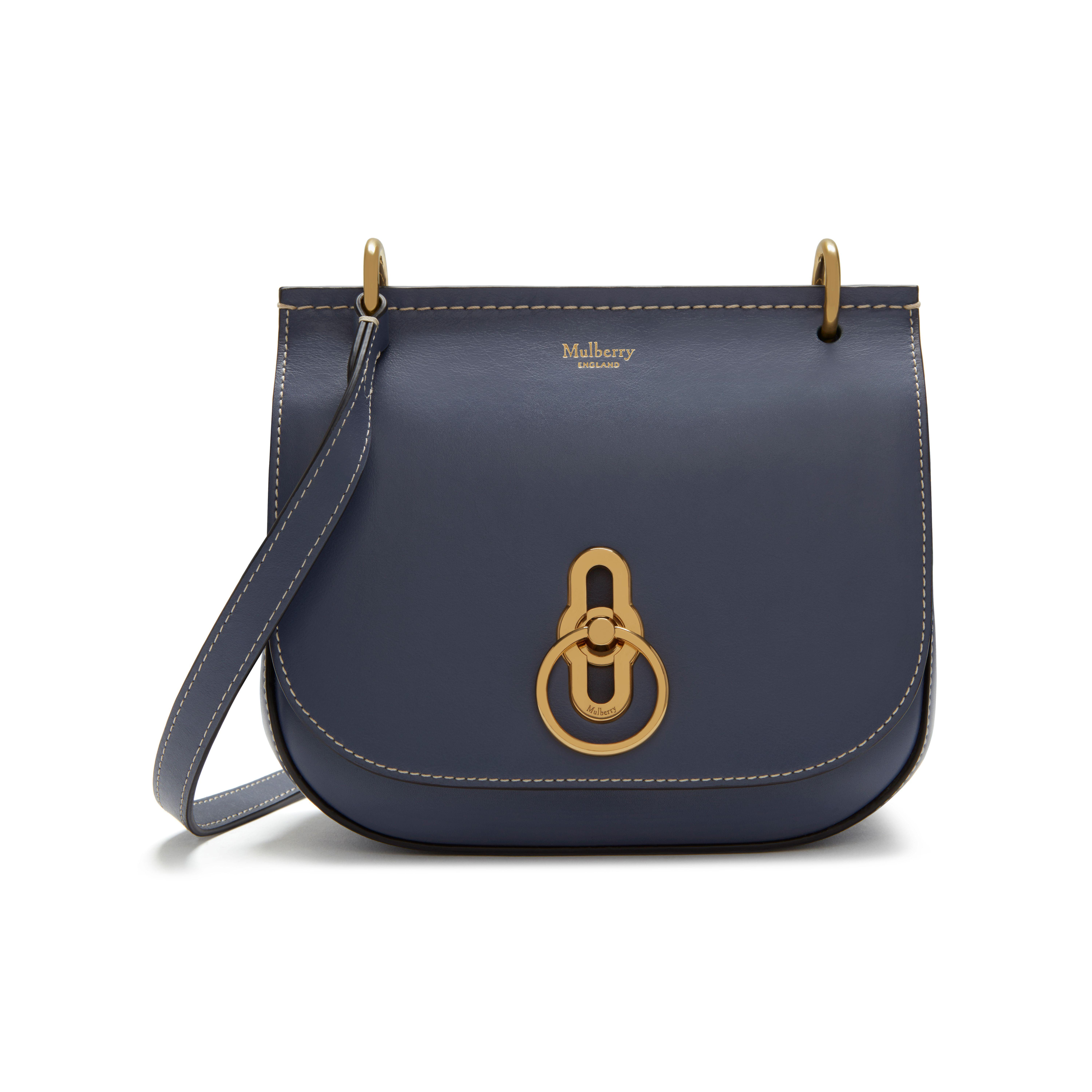 30fccce591c0 ... official lyst mulberry small amberley satchel in blue b4fb4 c4ea0