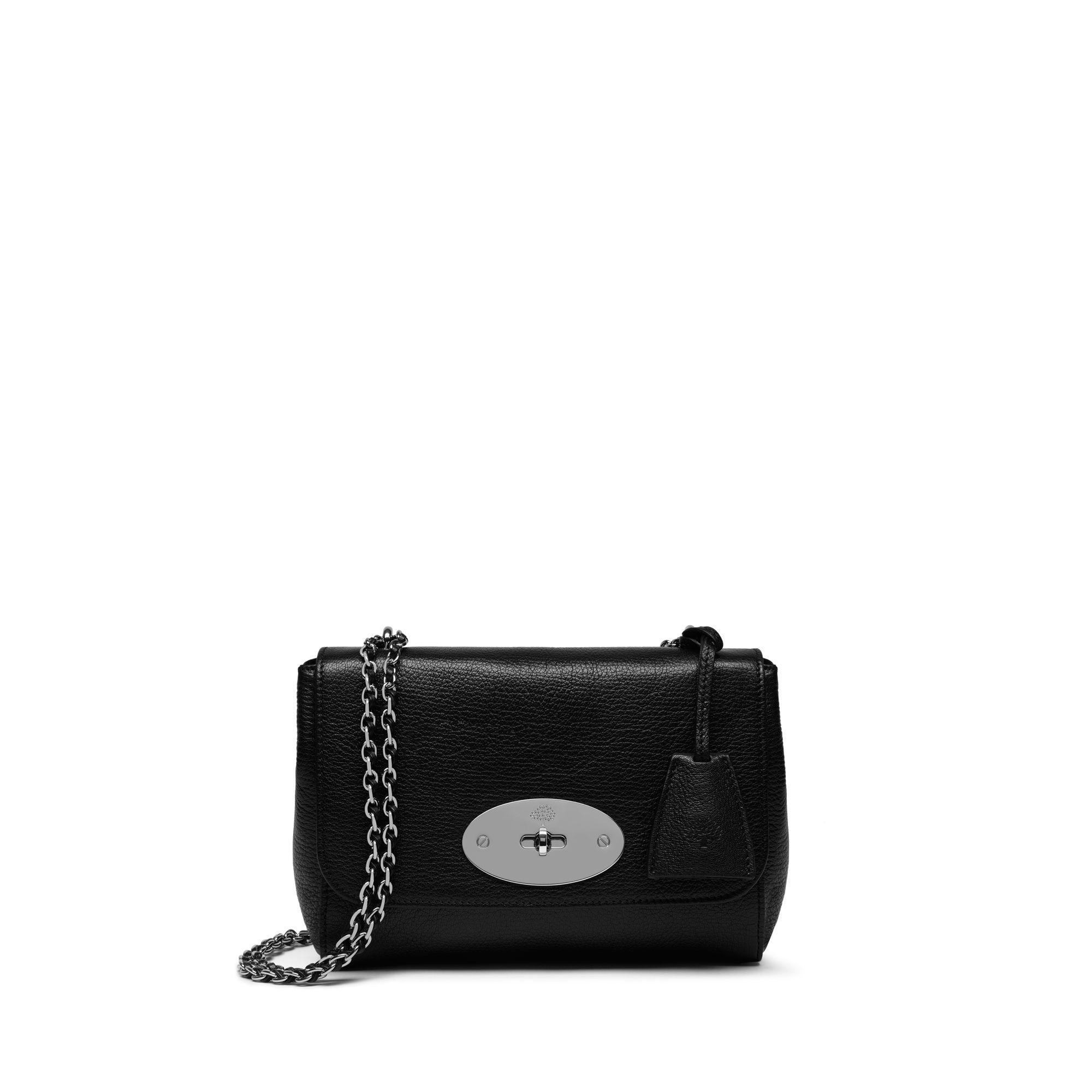 4607bddd1521 Lyst - Mulberry Lily In Black Glossy Goat Leather in Black