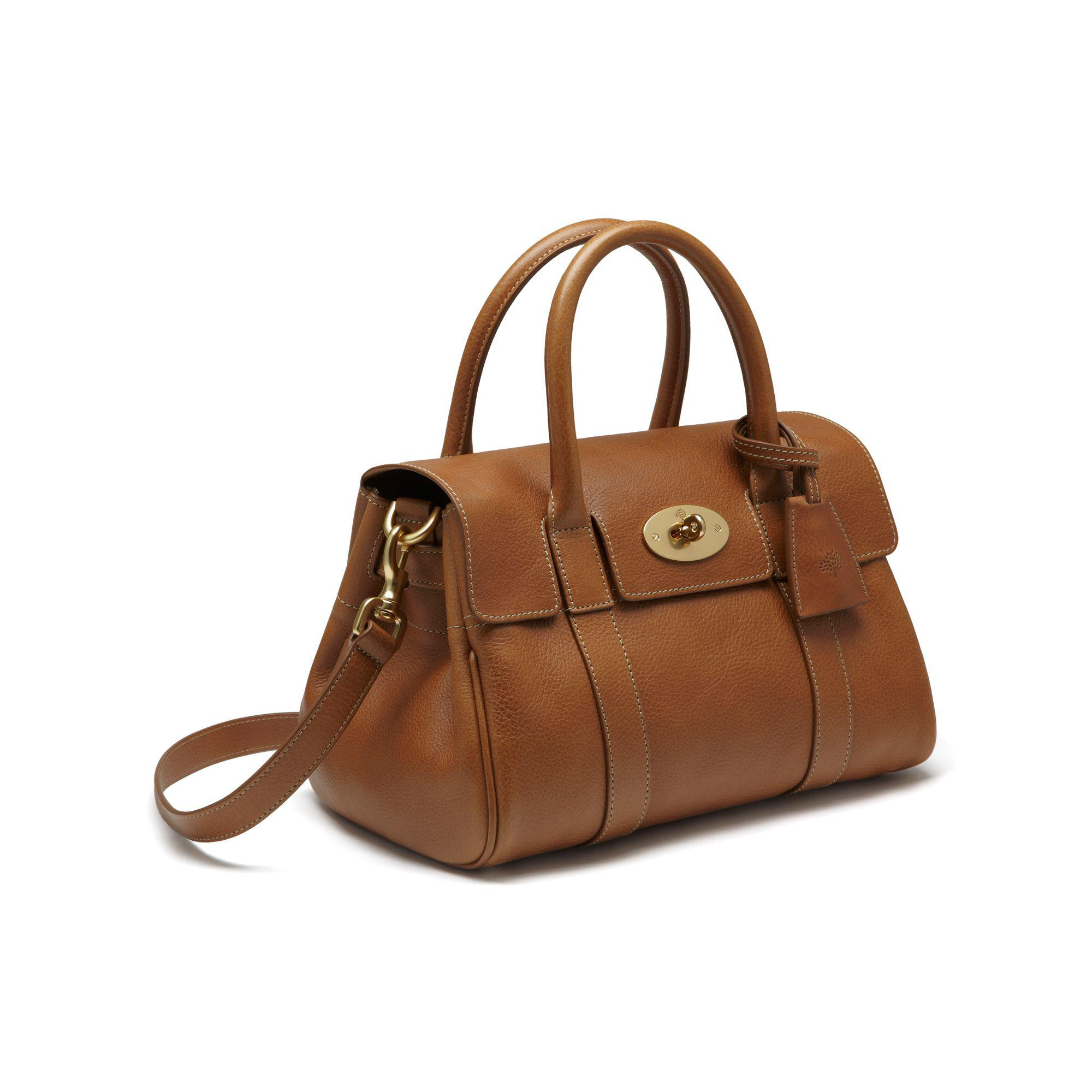 38b4fd0608 Lyst - Mulberry Small Bayswater Leather Satchel in Brown