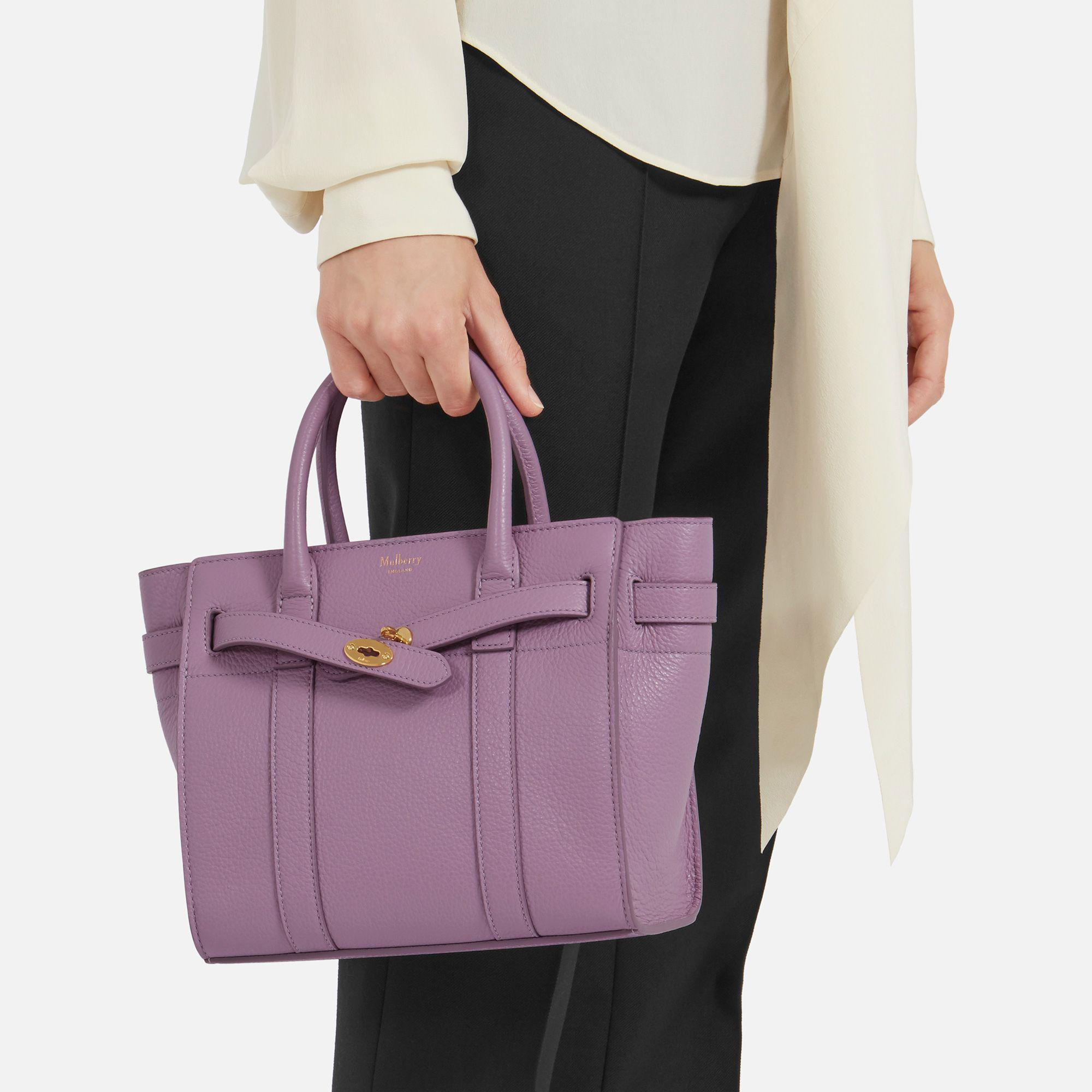 9beaf1e1ab1f italy mulberry black small zipped bayswater lyst 1466d 6c22d  sweden  mulberry purple mini zipped bayswater lyst. view fullscreen 7d0ed 490d7