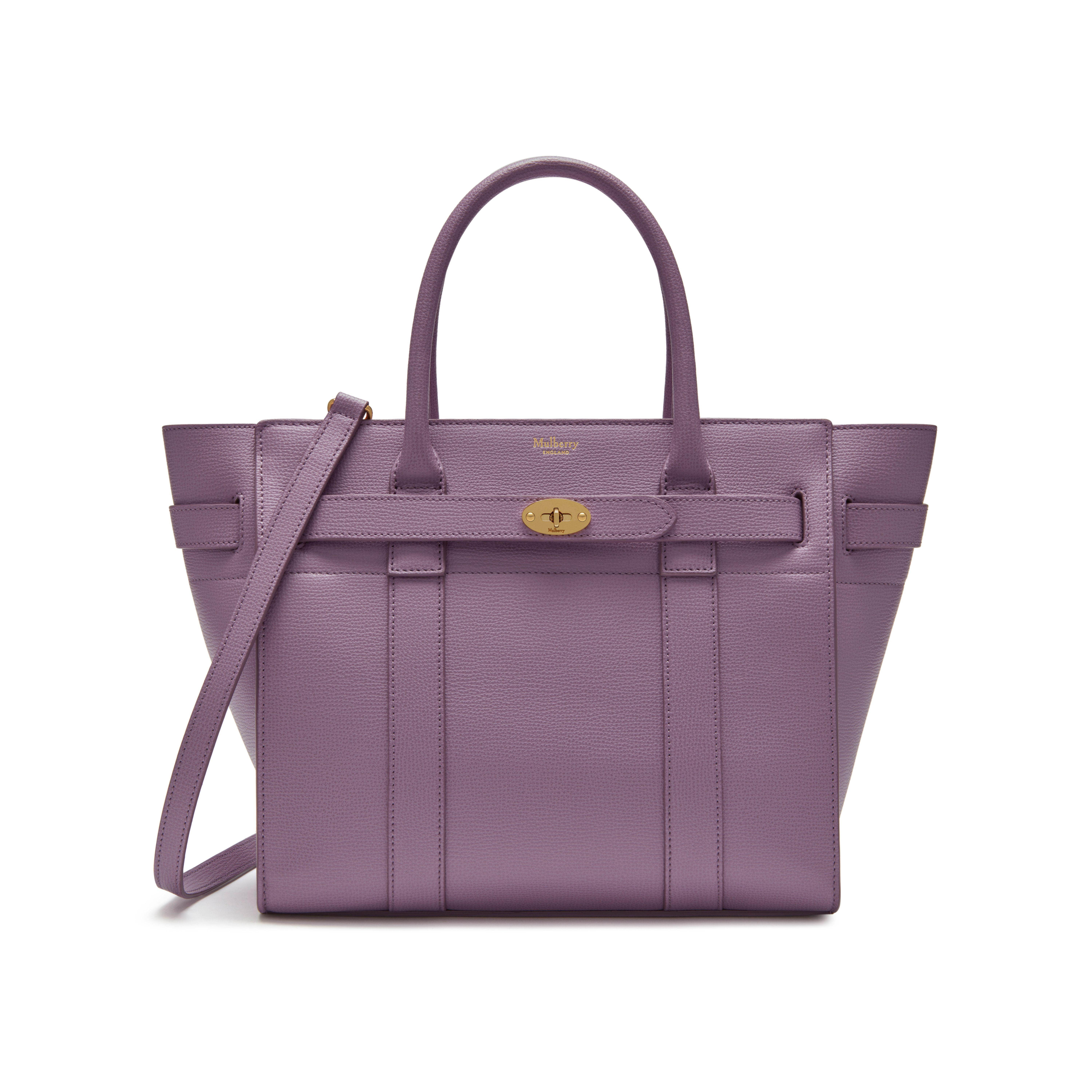 Mulberry Small Zipped Bayswater in Purple - Lyst 795d3cb1f3209