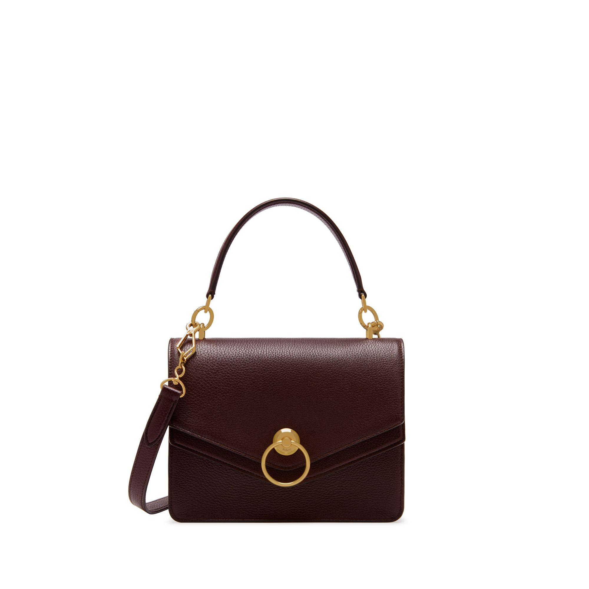 1d2fbdd77b75 Lyst - Mulberry Harlow Satchel In Oxblood Small Classic Grain