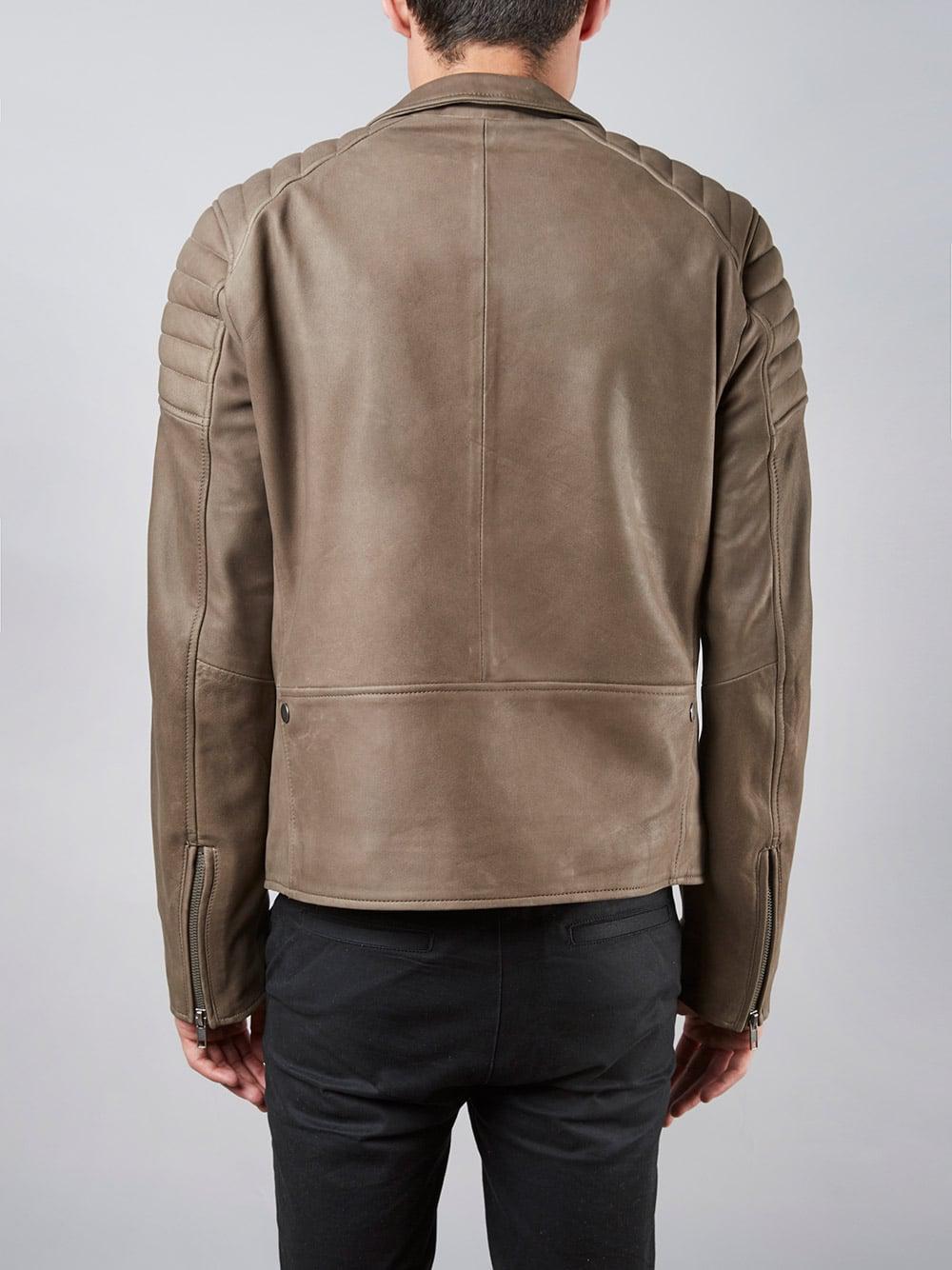 Muubaa Hansa Mink Biker Leather Jacket for Men