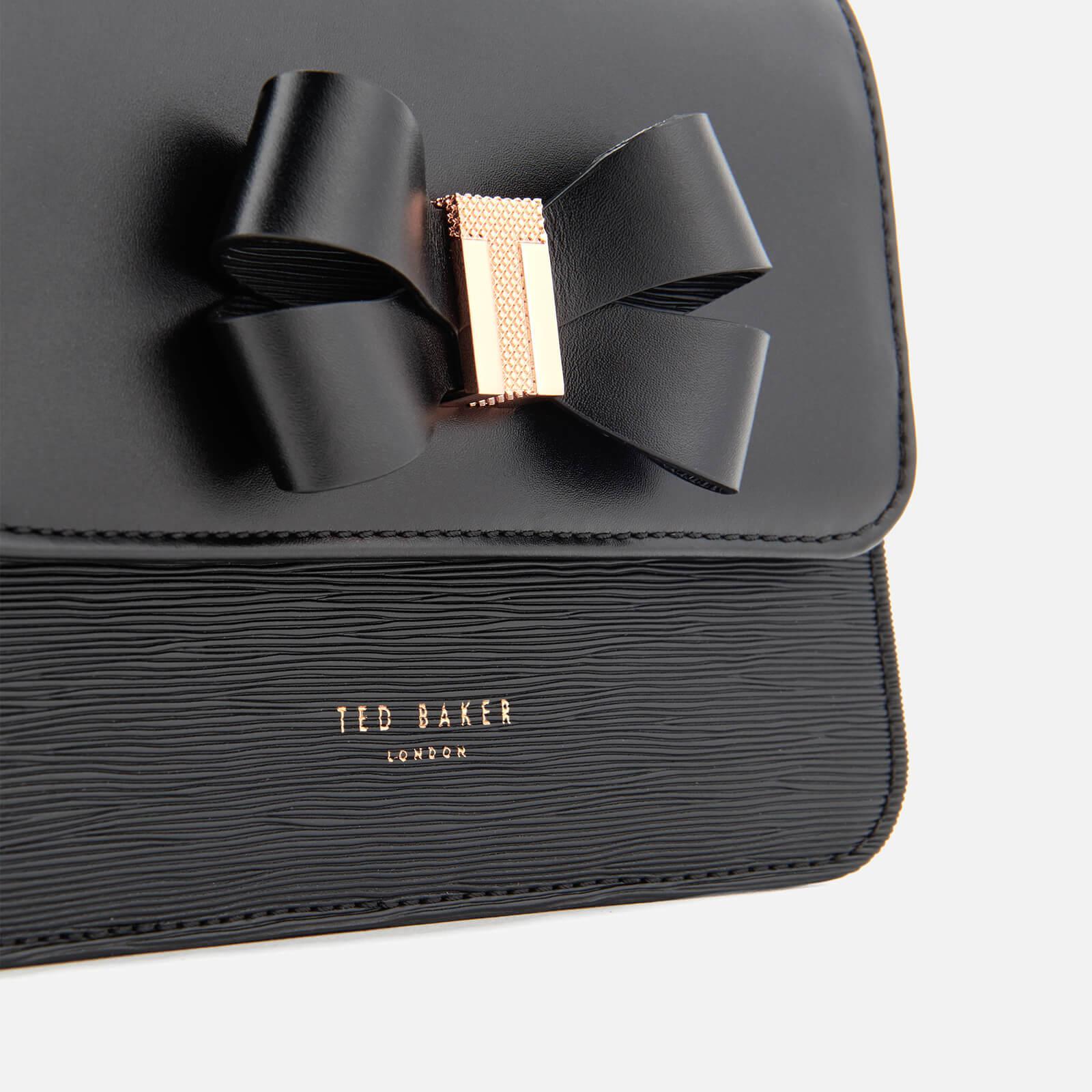 Ted Baker Leather Calliih Bow Detail Cross Body Bag in Black