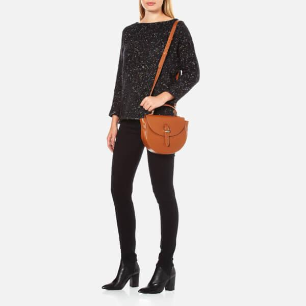 meli melo Leather Ortensia Mini Cross Body Bag in Brown