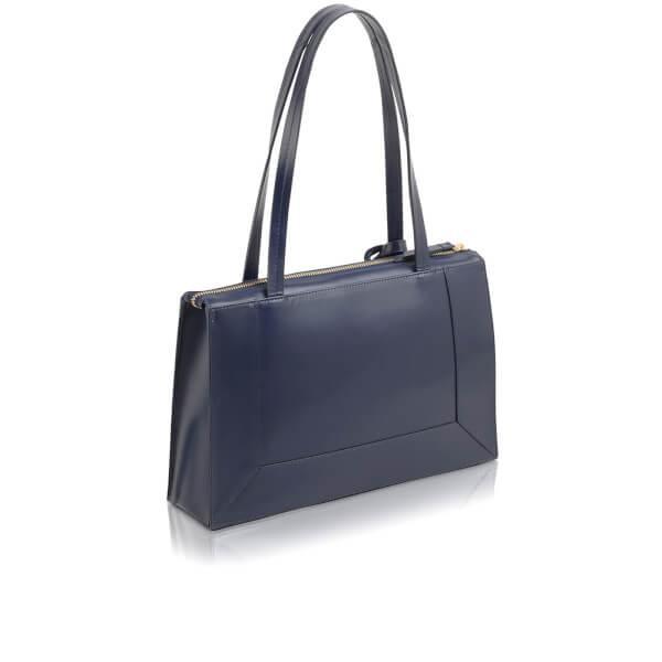 Radley Leather Hardwick Medium Ziptop Tote Bag in Blue