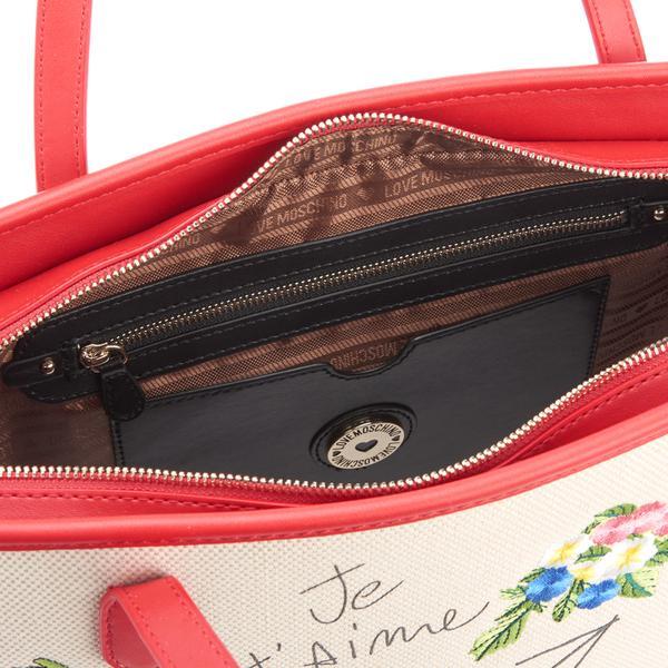 Love Moschino Canvas I Love You Shopper Bag