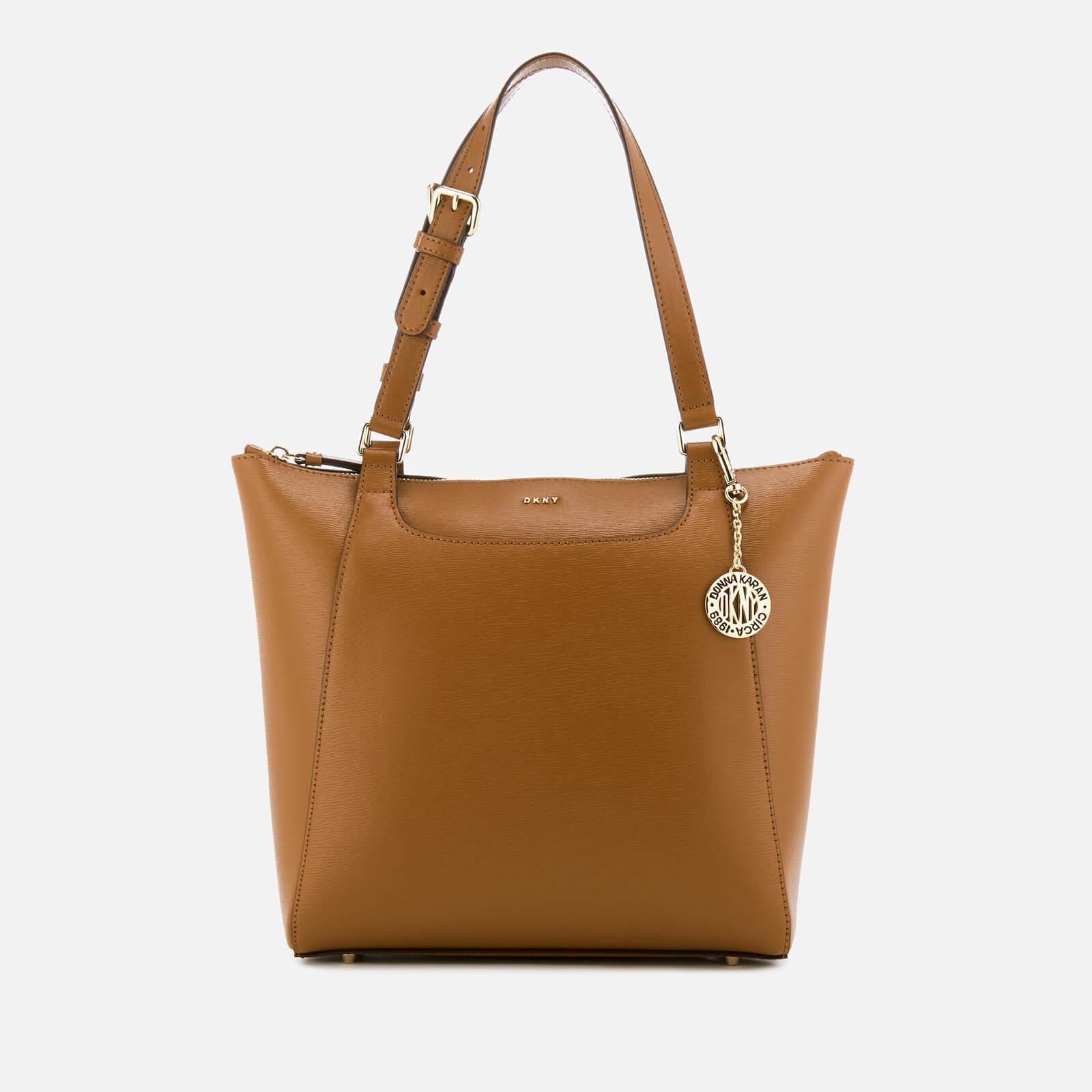 DKNY Leather Sutton Saddle Medium Tote Bag
