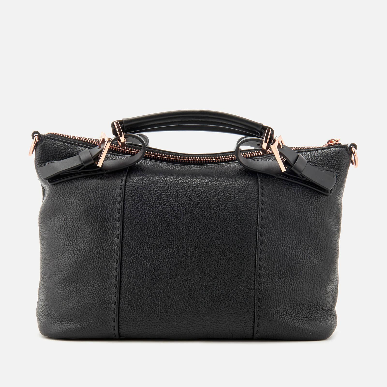 Ted Baker Leather Salbett Bridle Handle Small Tote Bag in Black