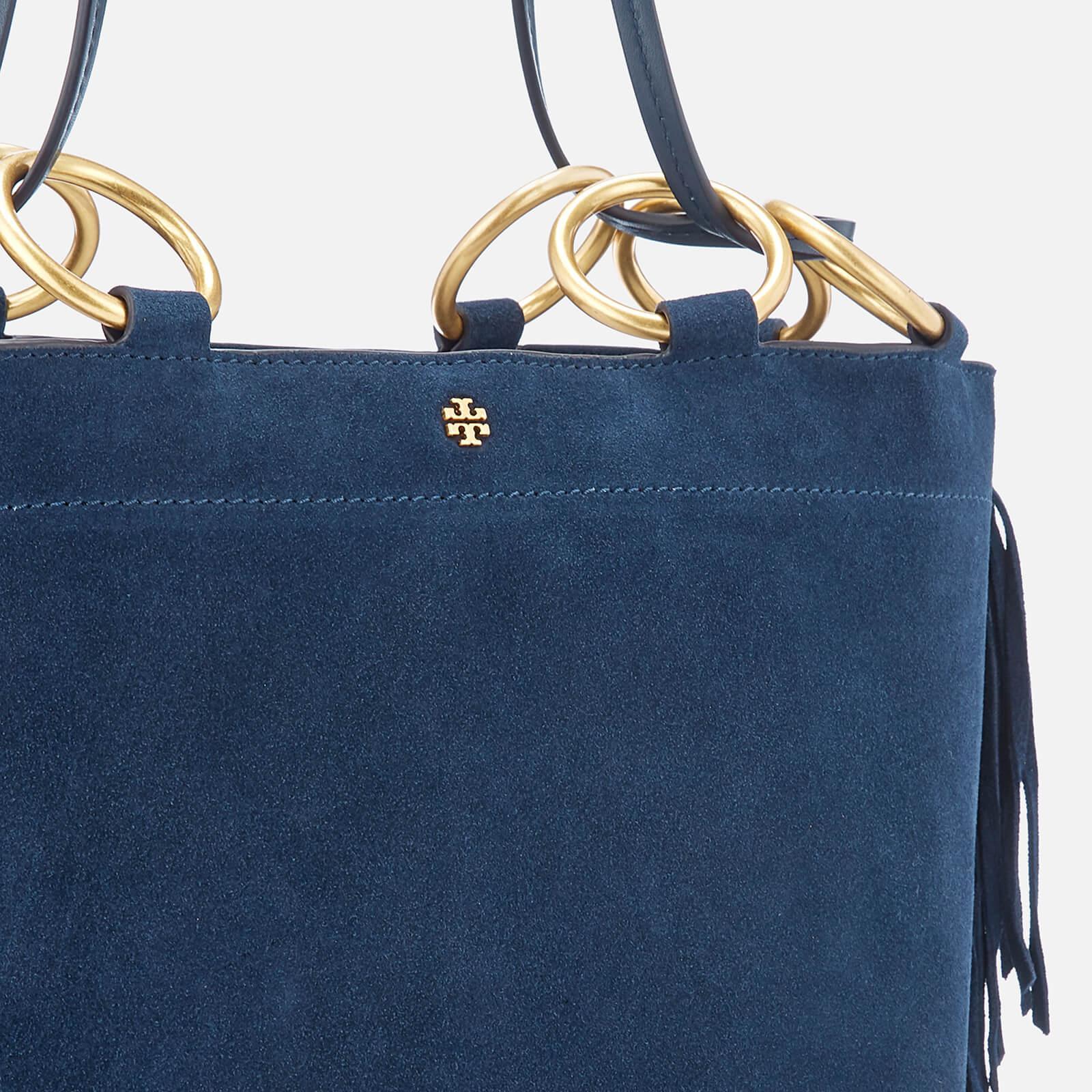 6d7f565139ef Tory Burch - Blue Farrah Fringe Minik Tote Bag - Lyst. View fullscreen