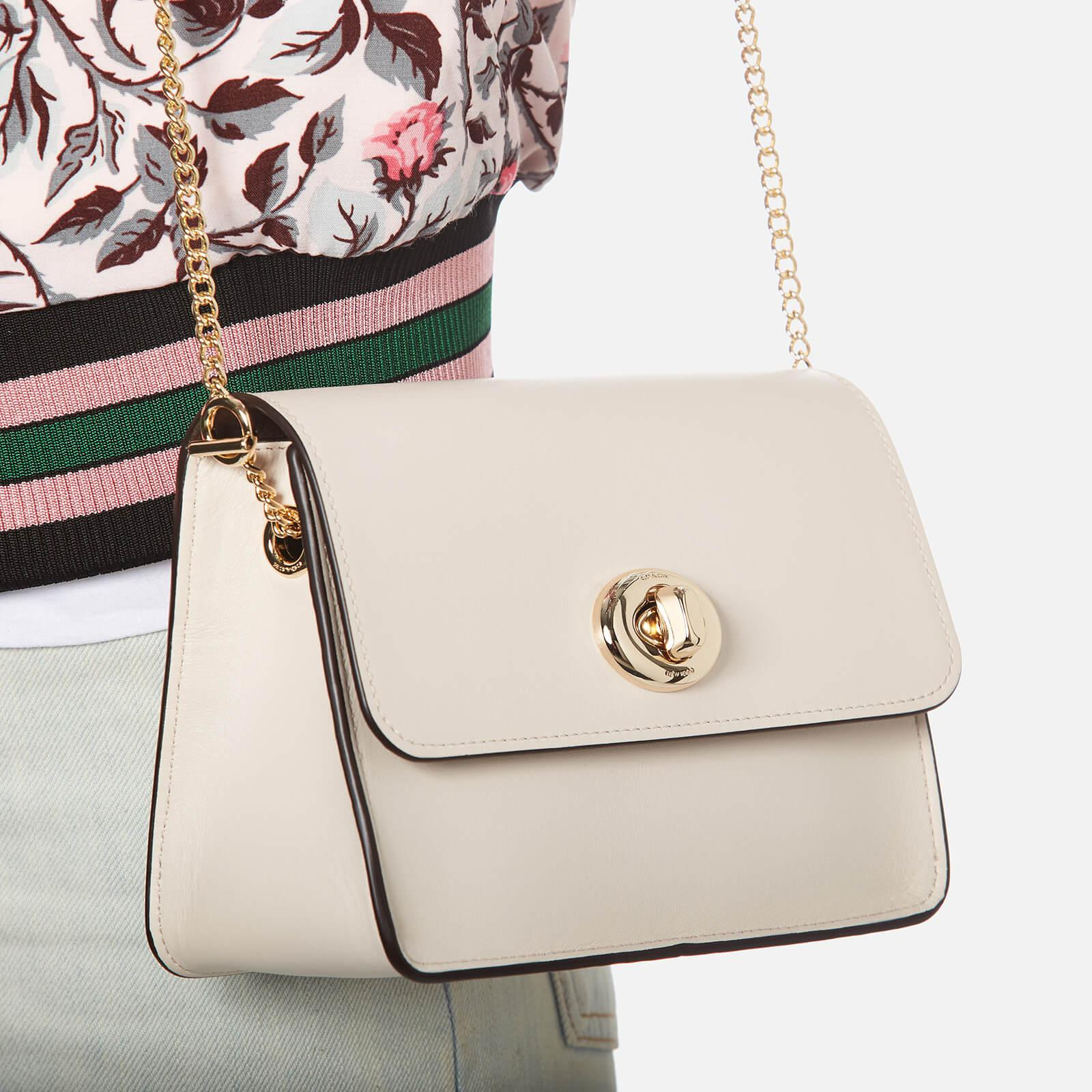 04aed2f15d COACH Natural Turnlock Chain Cross Body Bag