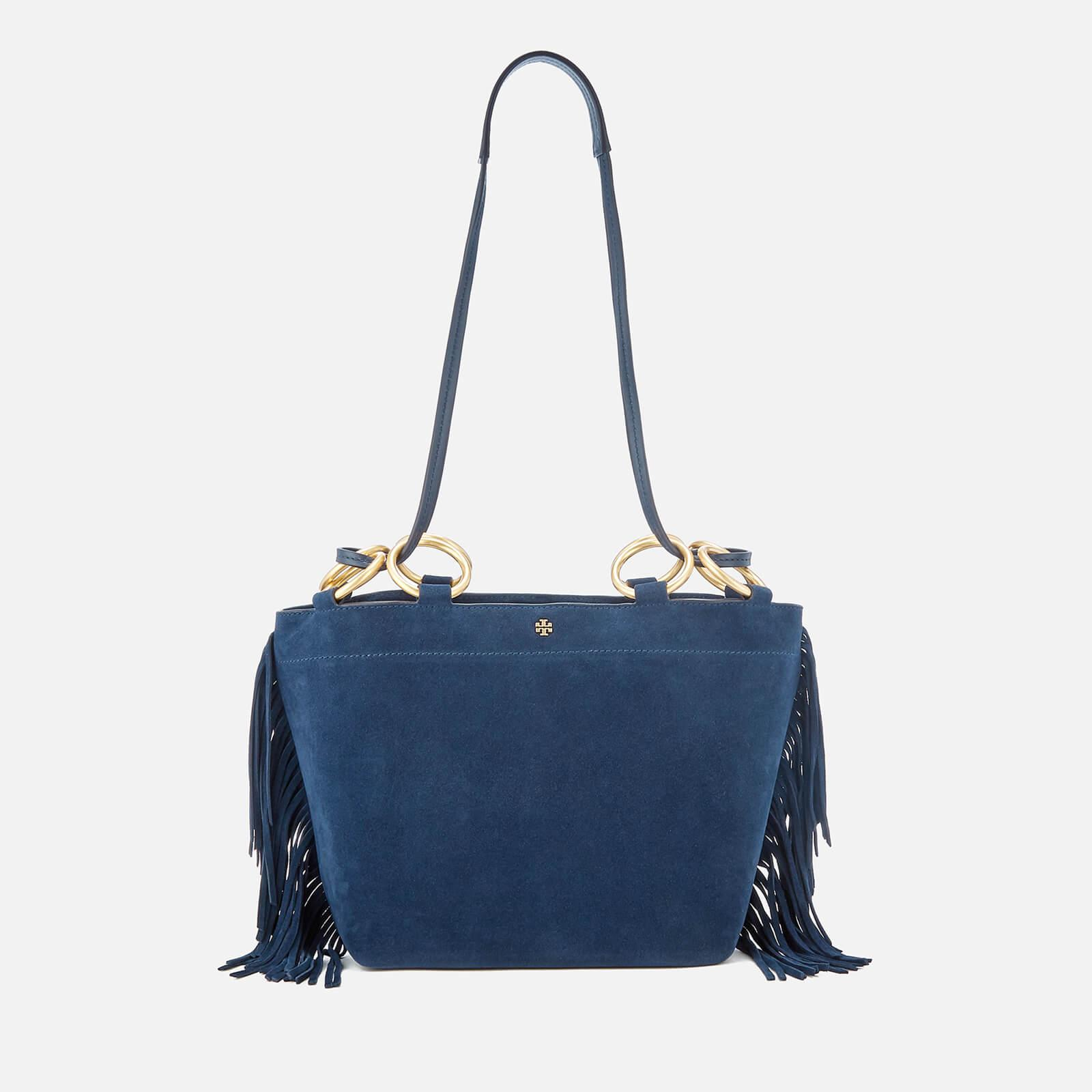 5e8116814ab Tory Burch Farrah Fringe Minik Tote Bag in Blue - Lyst