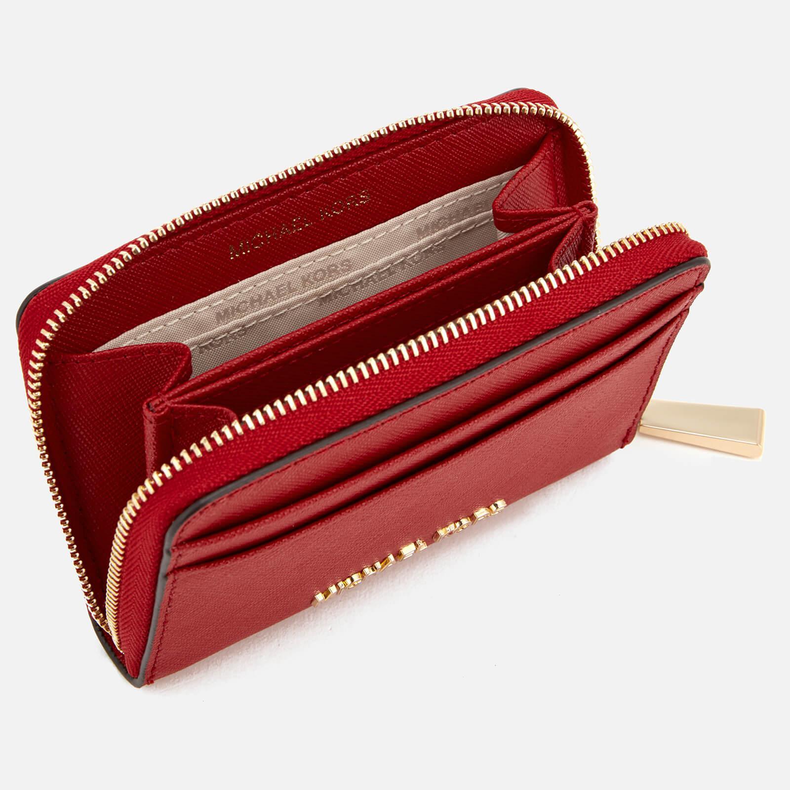 super popular cac7d 66784 MICHAEL Michael Kors Red Money Pieces Zip Around Card Case
