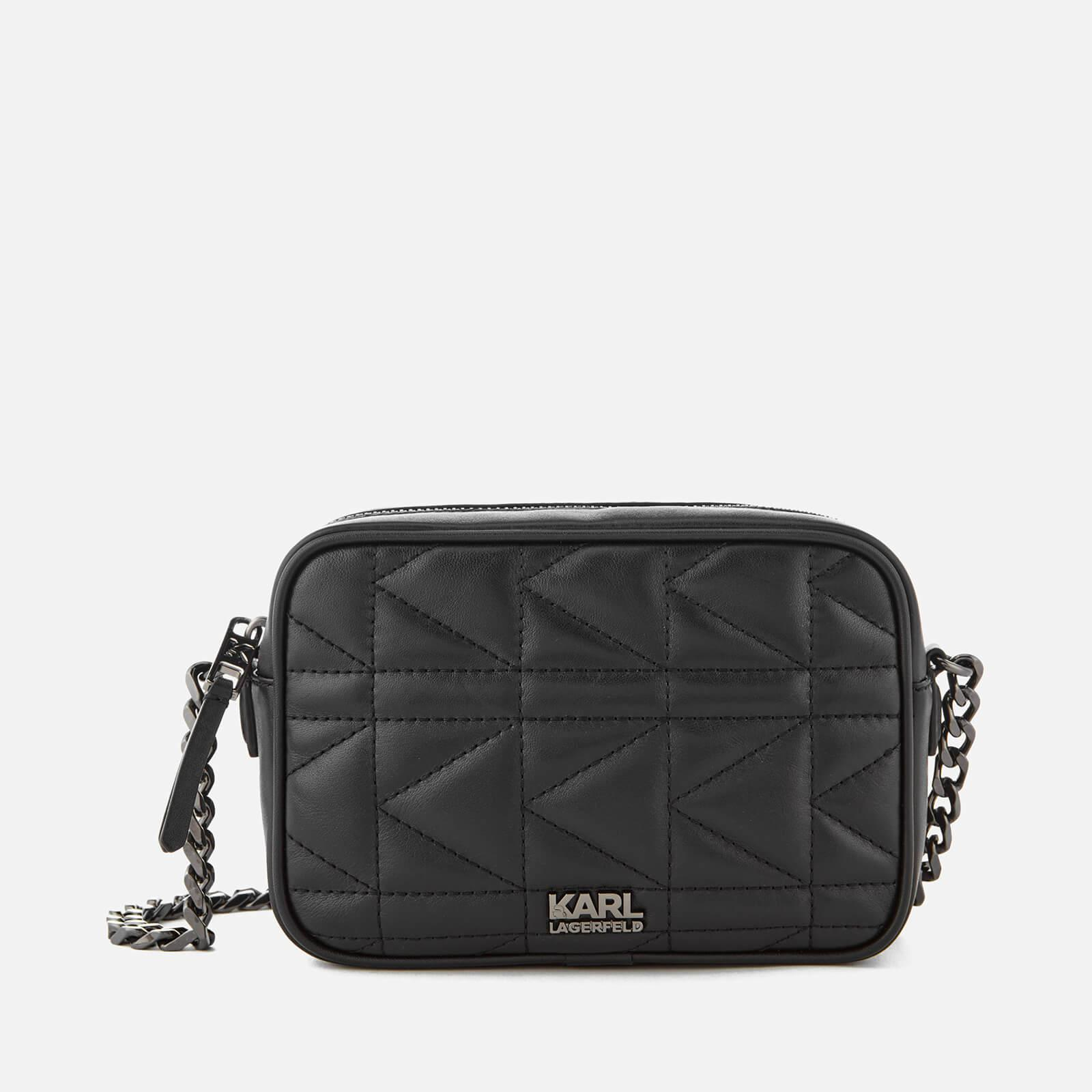 K/Kuilted Crossbody Bag in Black Calf Leather Karl Lagerfeld qUs8MHXOqw