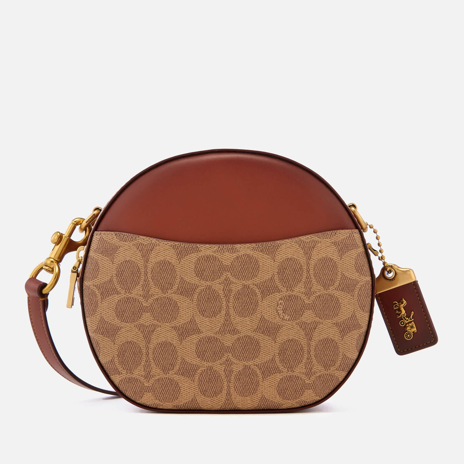 2c007caea67b Lyst - COACH Coated Canvas Signature Canteen Cross Body Bag in Brown